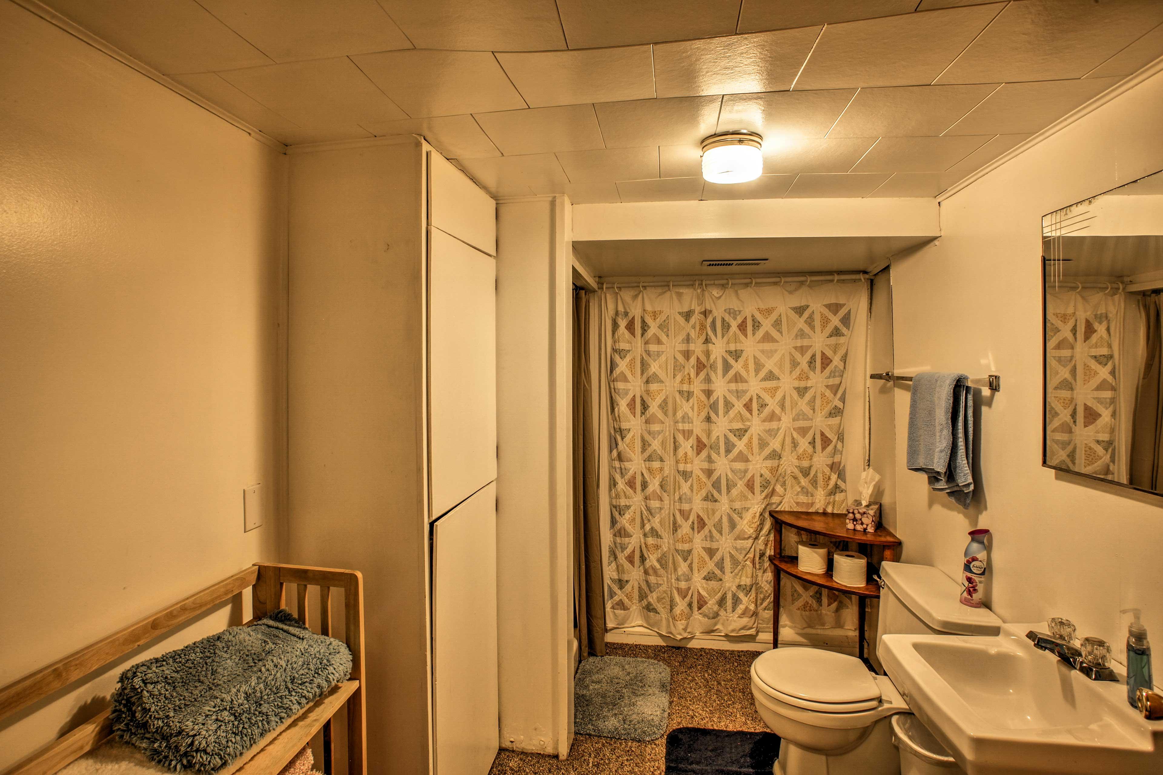 The home has 2 spacious bathrooms.