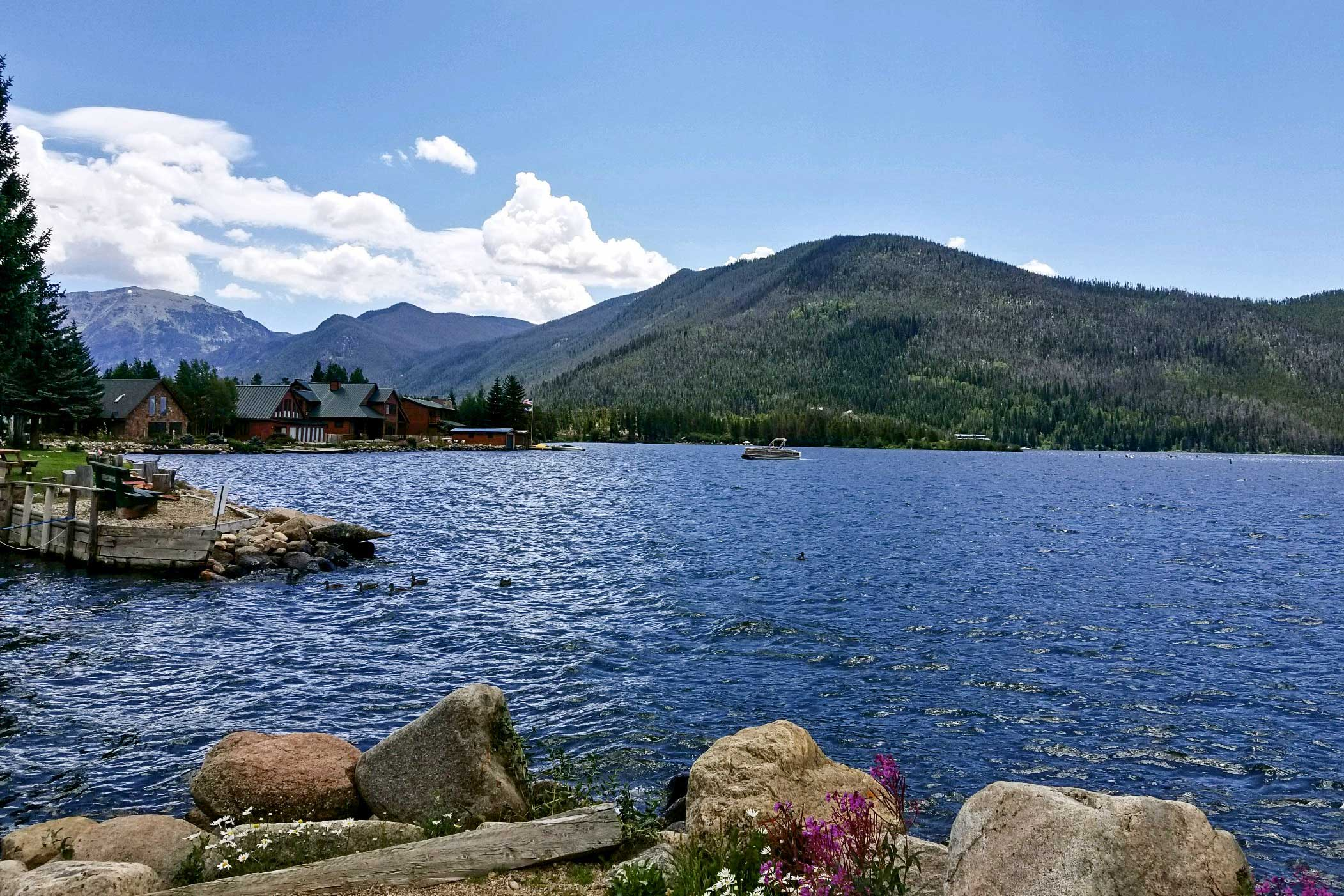 Shadow Mountain Lake will serve as your backdrop during your stay.