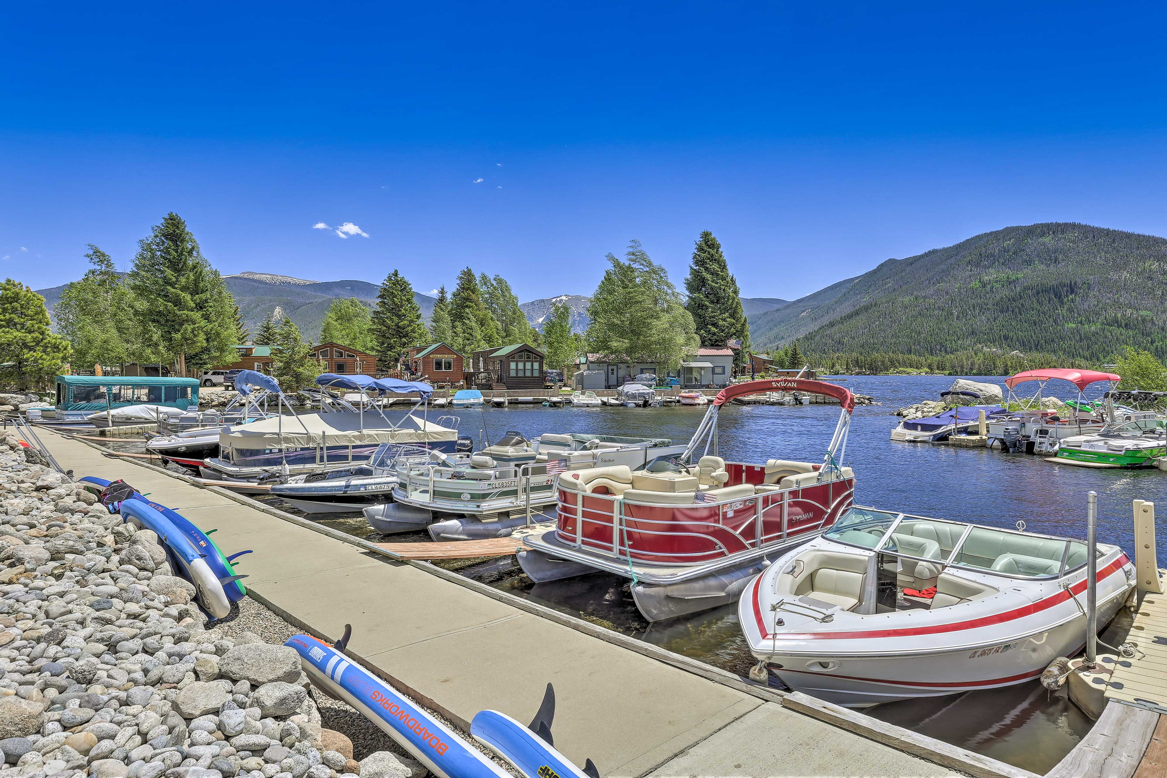 Rent a boat or kayak from one of the marinas along Grand Lake.
