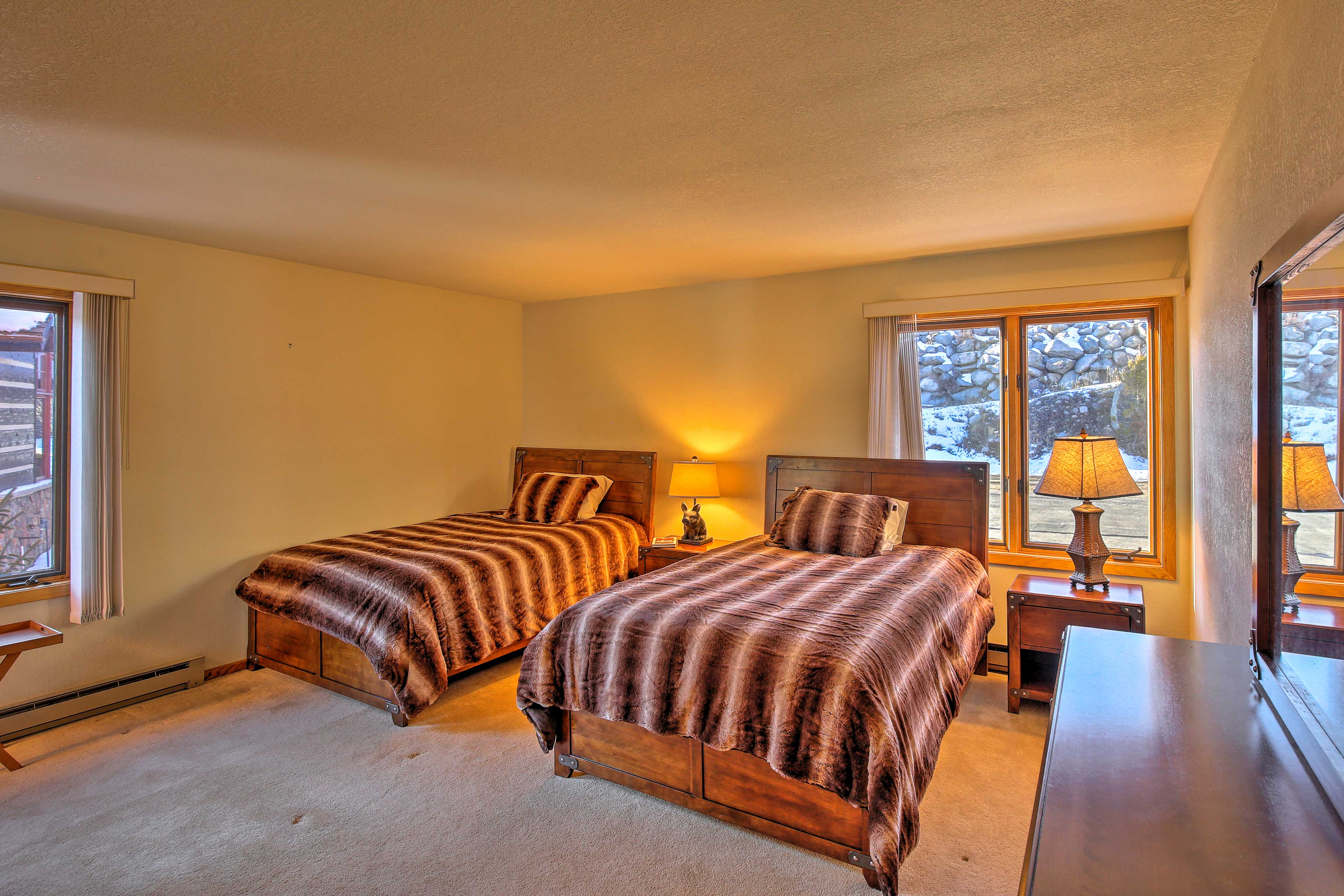Two full beds finish off this second spacious bedroom.