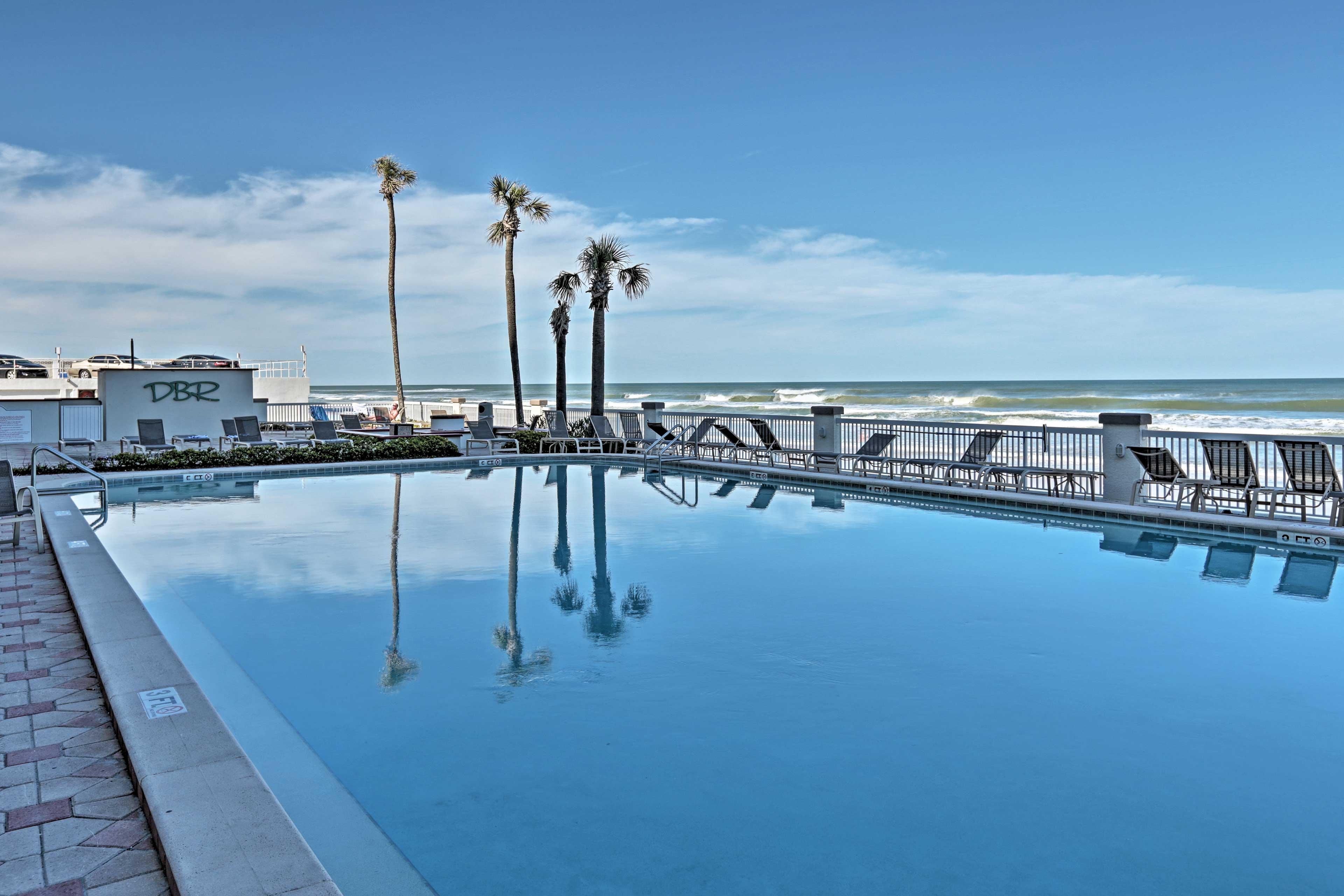Book your Daytona Beach getaway at this 1-bedroom, 1-bath vacation rental condo.