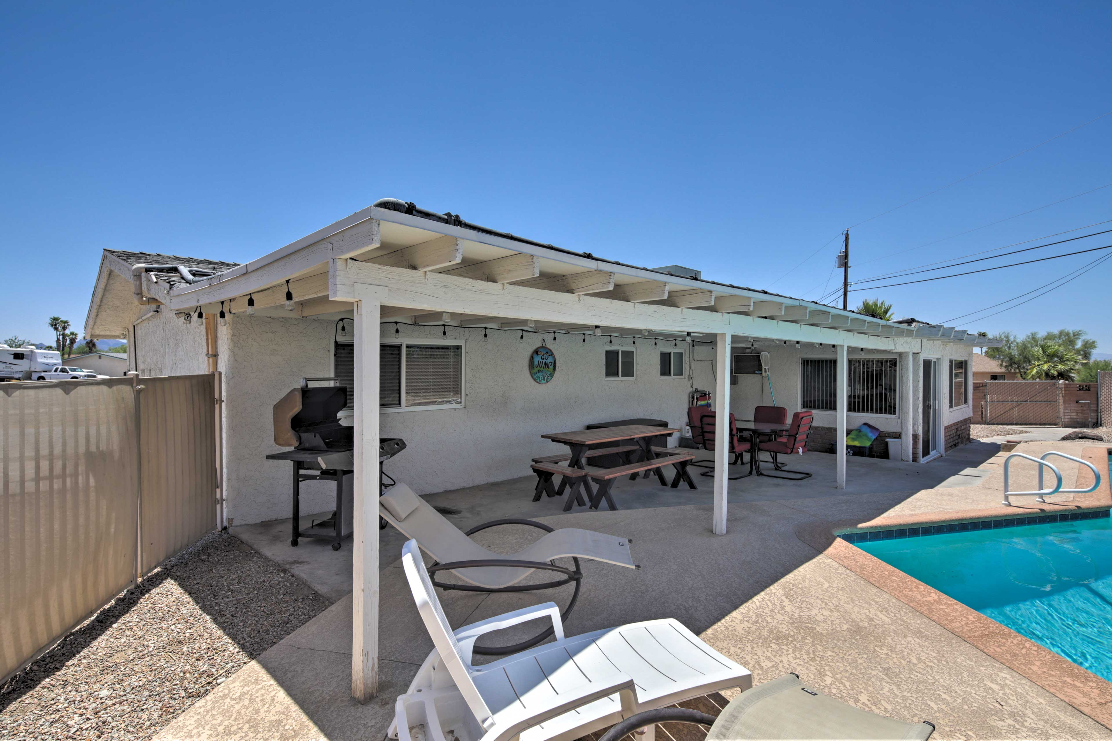 Bask in the Arizona sunshine on your pool deck.