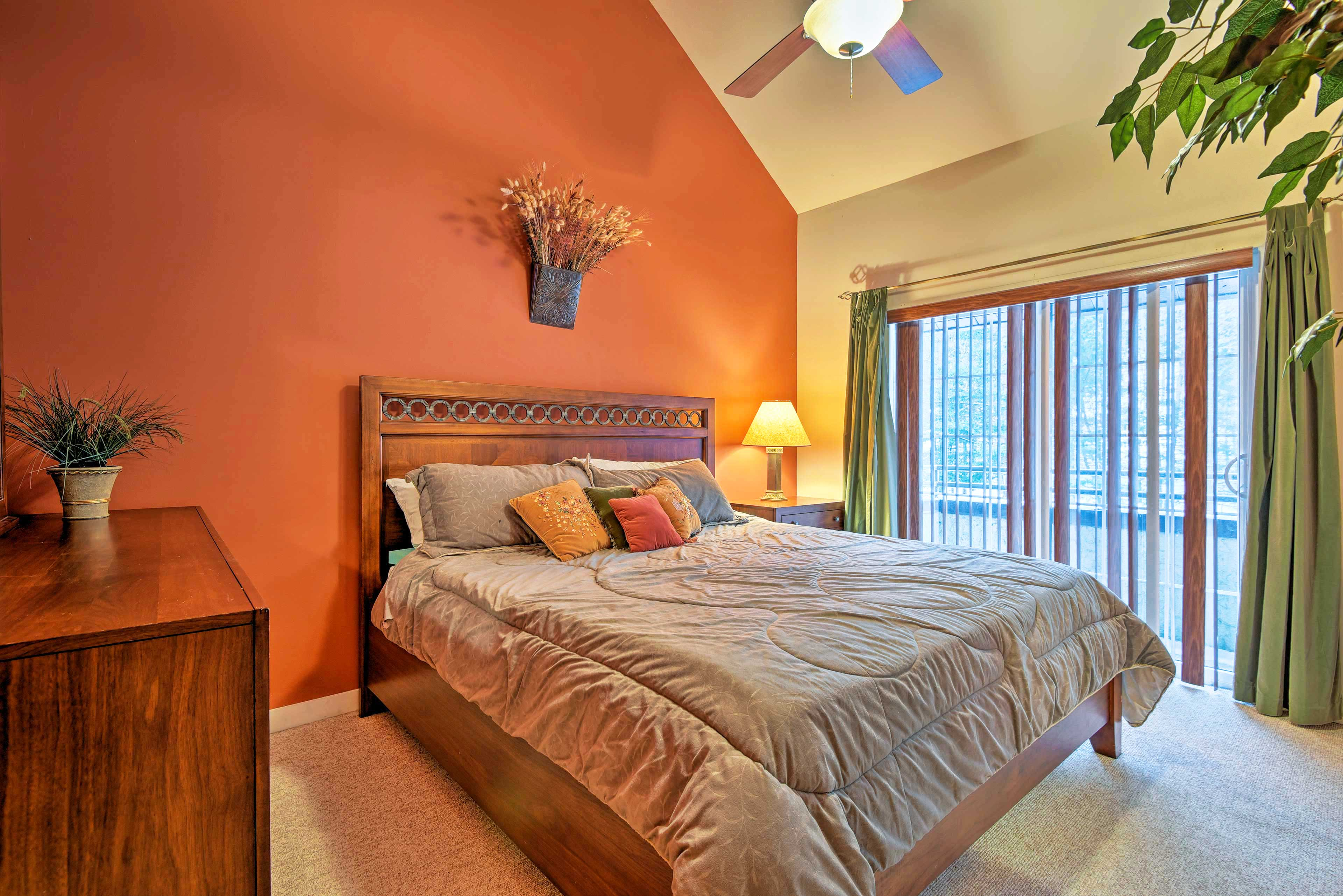 Retreat to the master bedroom for a peaceful slumber.