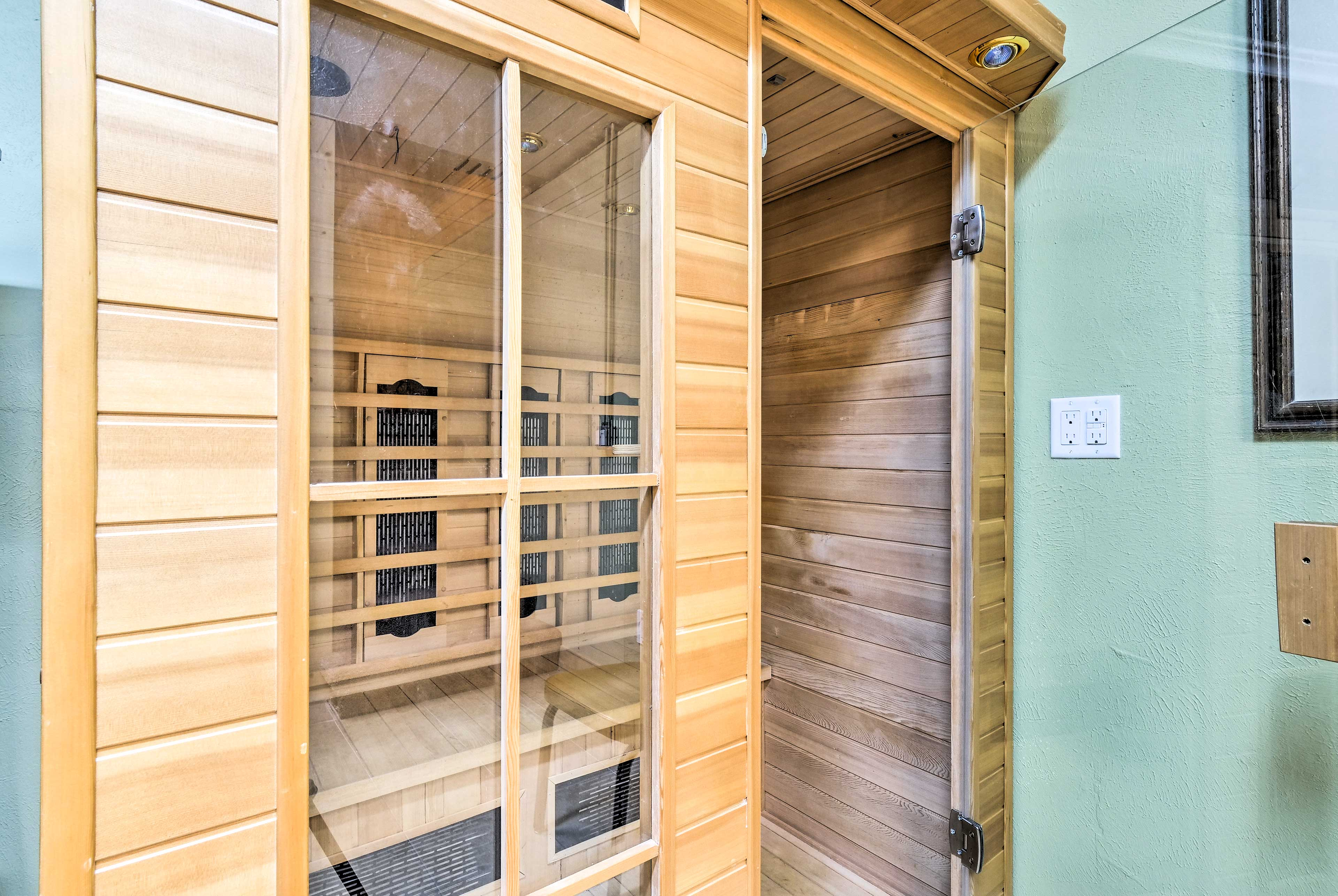 Melt your stress away in the dry sauna.