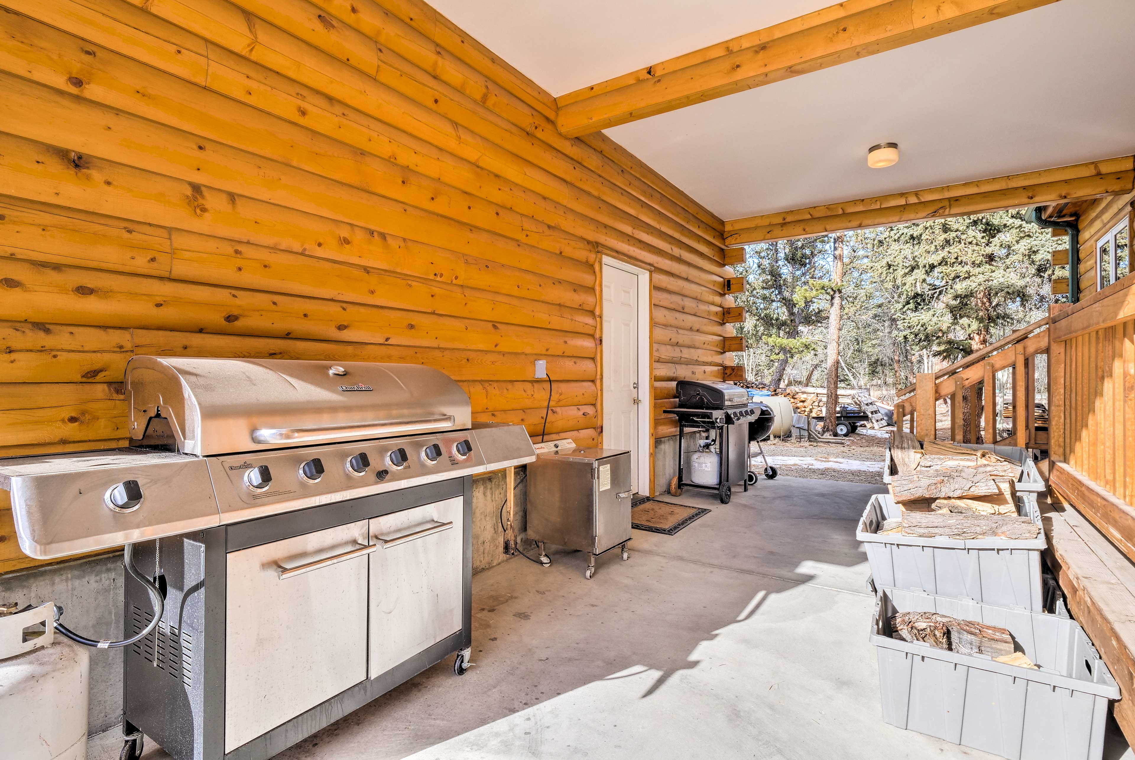 Utilize the gas grill for a good old-fashioned cookout!