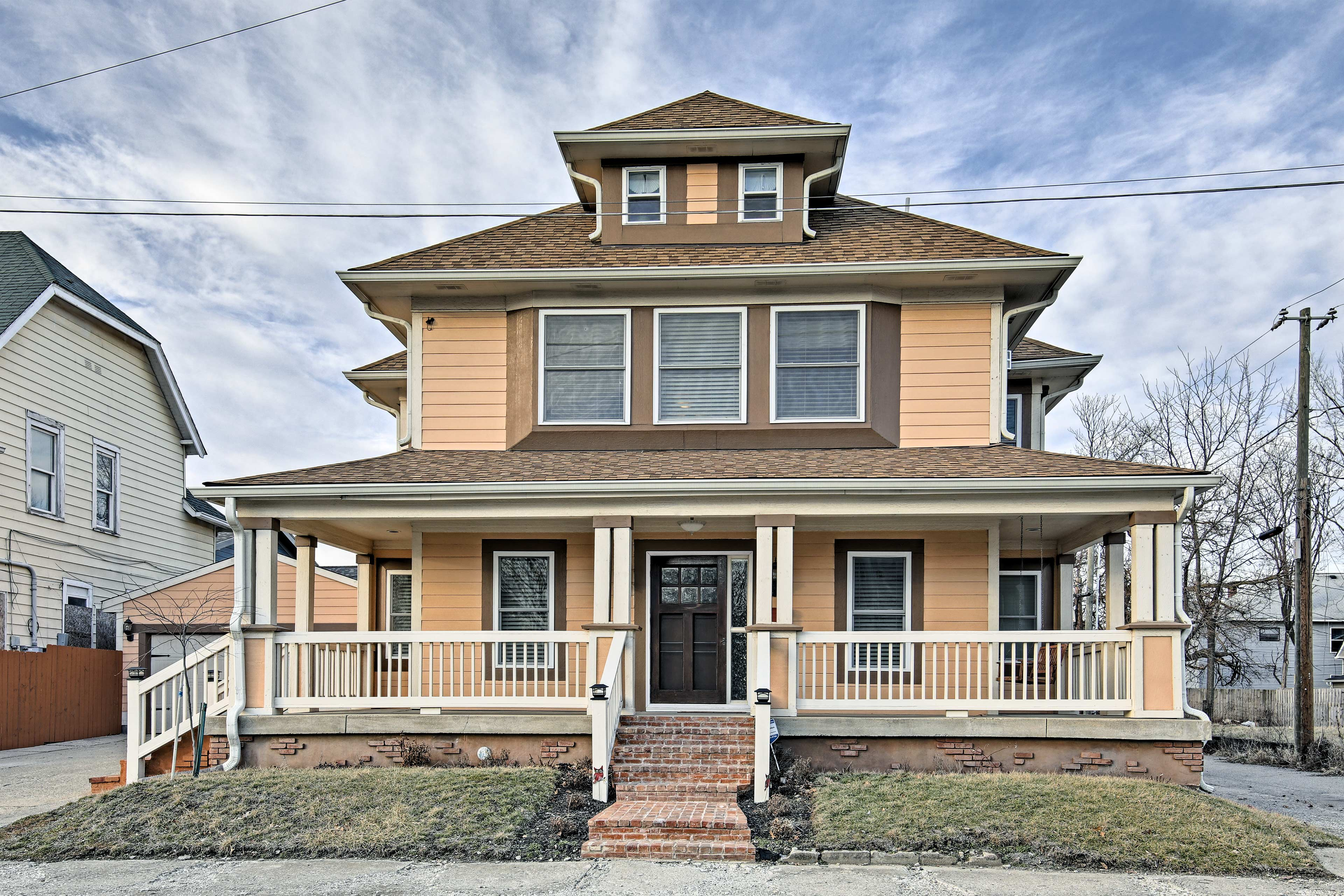 This 4-bed, 4-bath vacation rental home is perfect for your next Indy getaway!