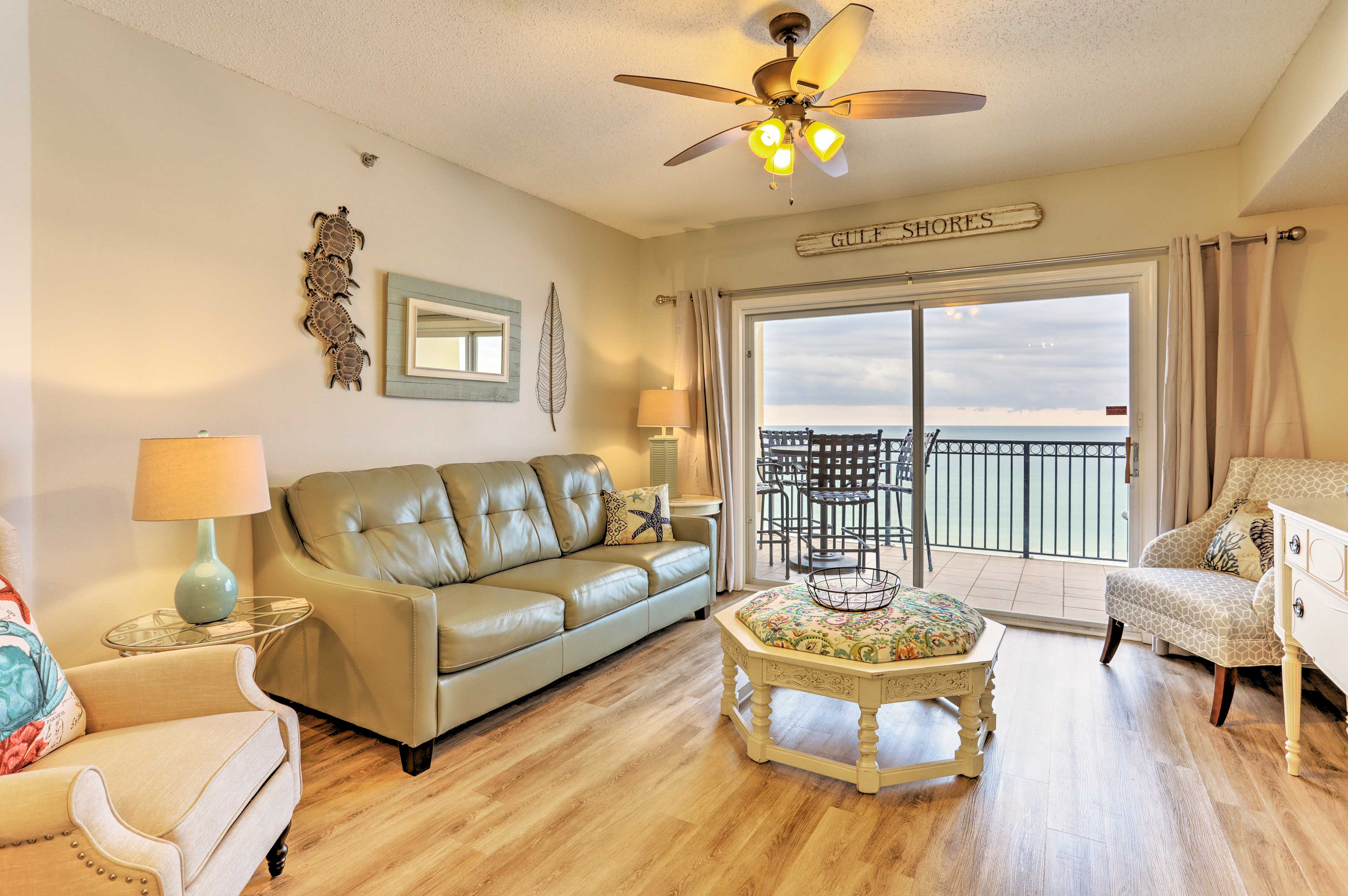 Open up the sliding glass doors for a breath of fresh sea air.