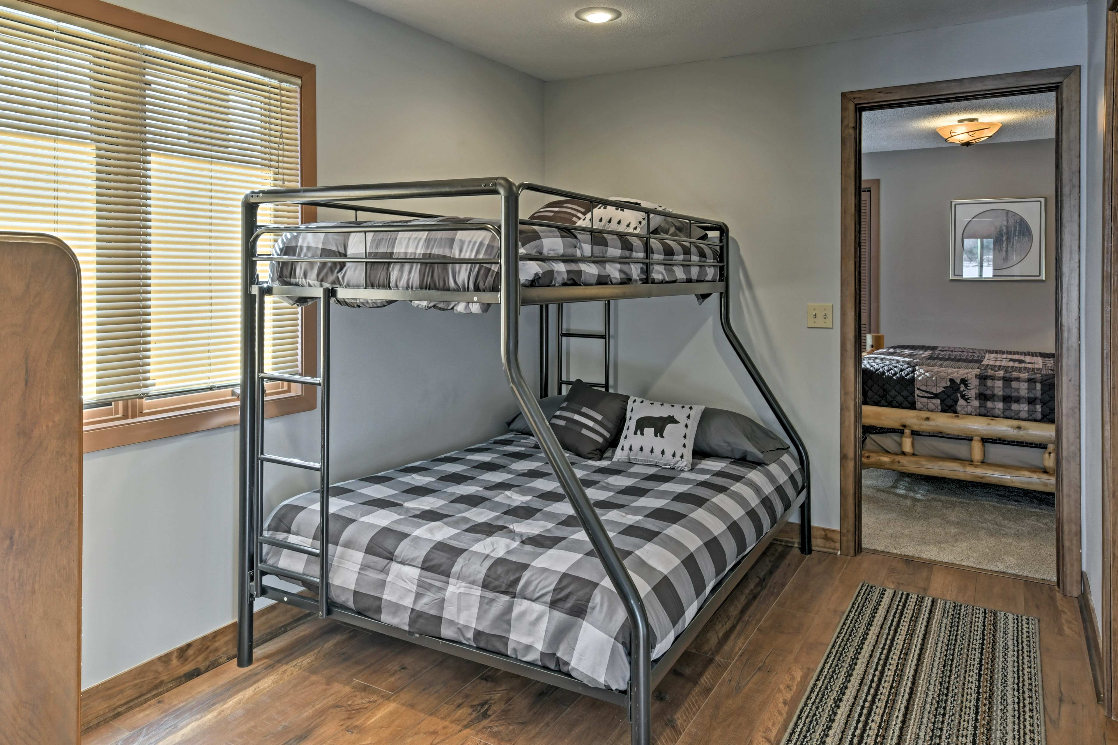 Kids will love sharing this twin-over-full bunk bed.