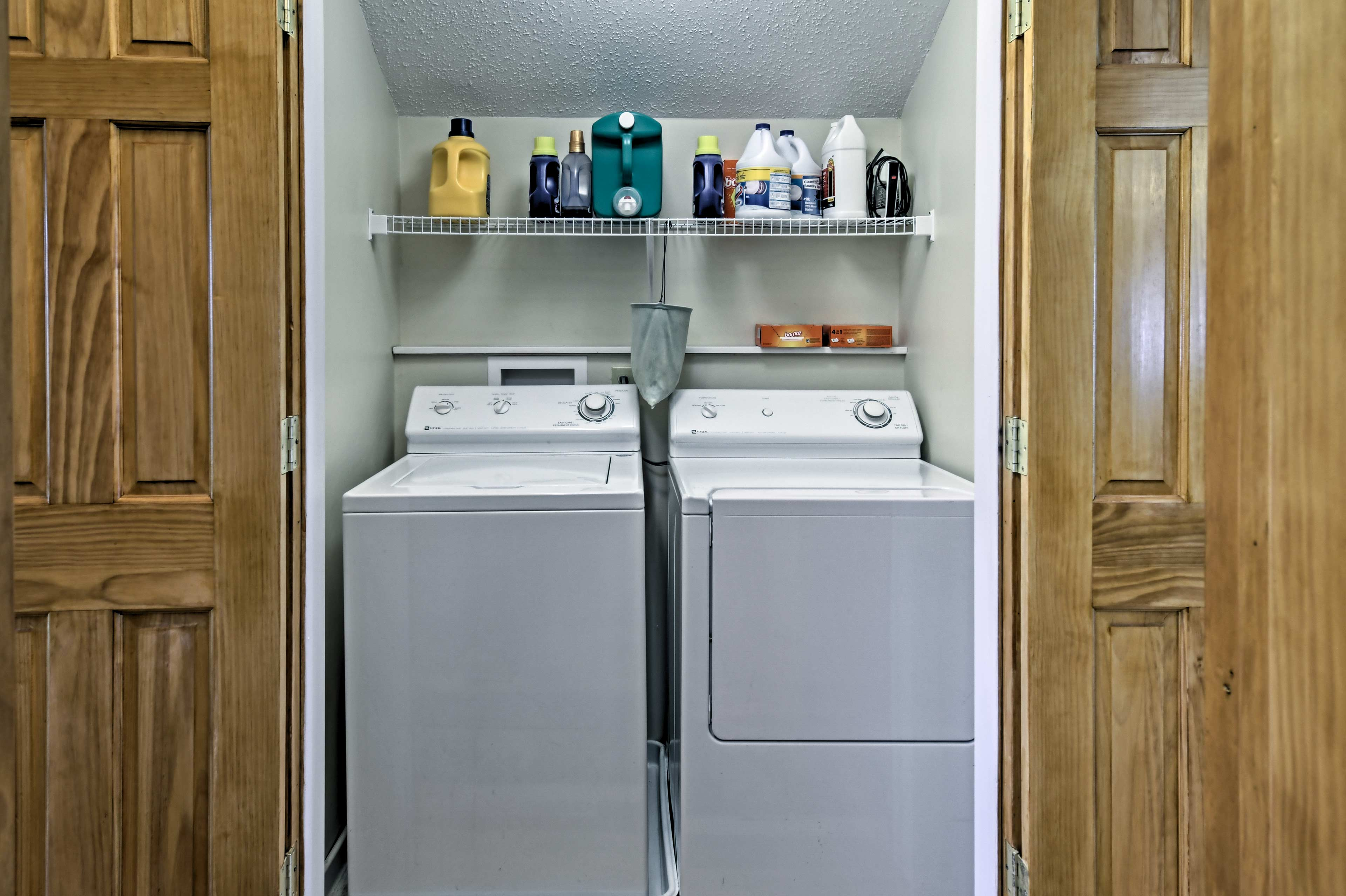 Keep your belongings nice and clean by utilizing the laundry machines.