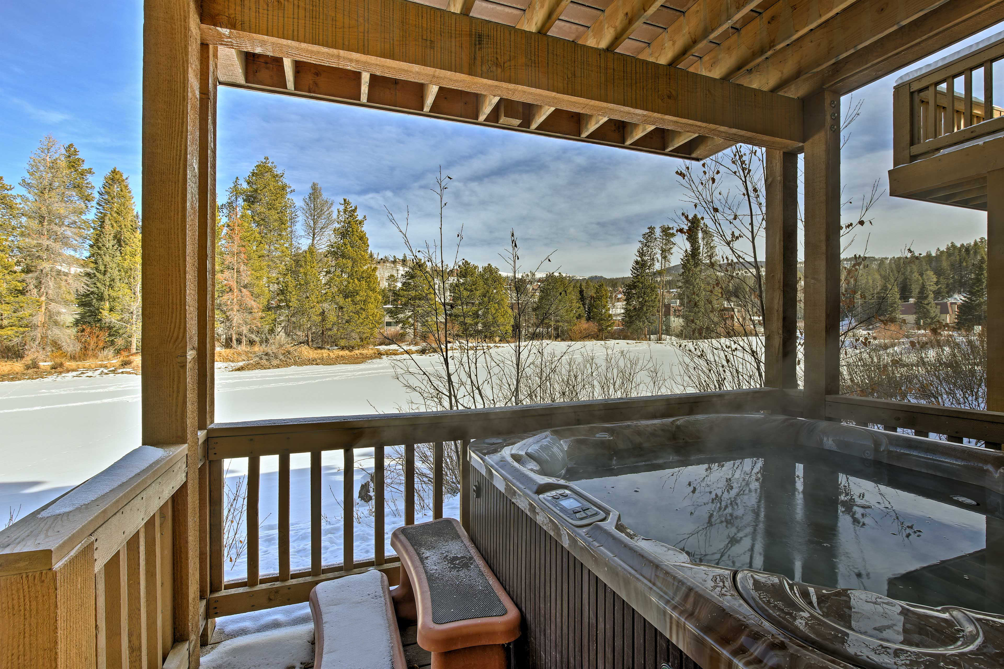 This classic cabin-like condo boasts 2,000 square feet of living space.