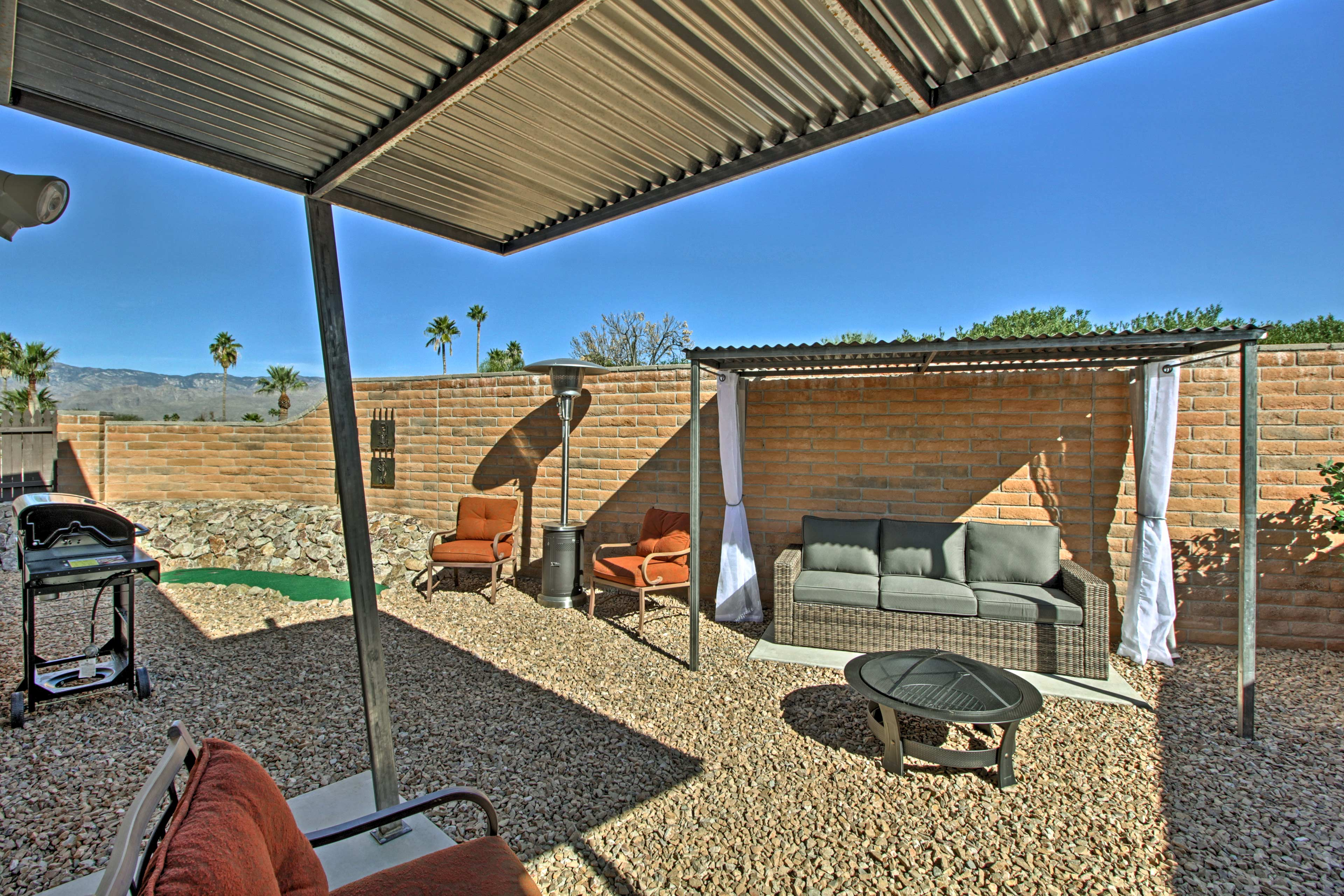 Sneak away to the Saguaro Desert and stay at this vacation rental in Tucson!