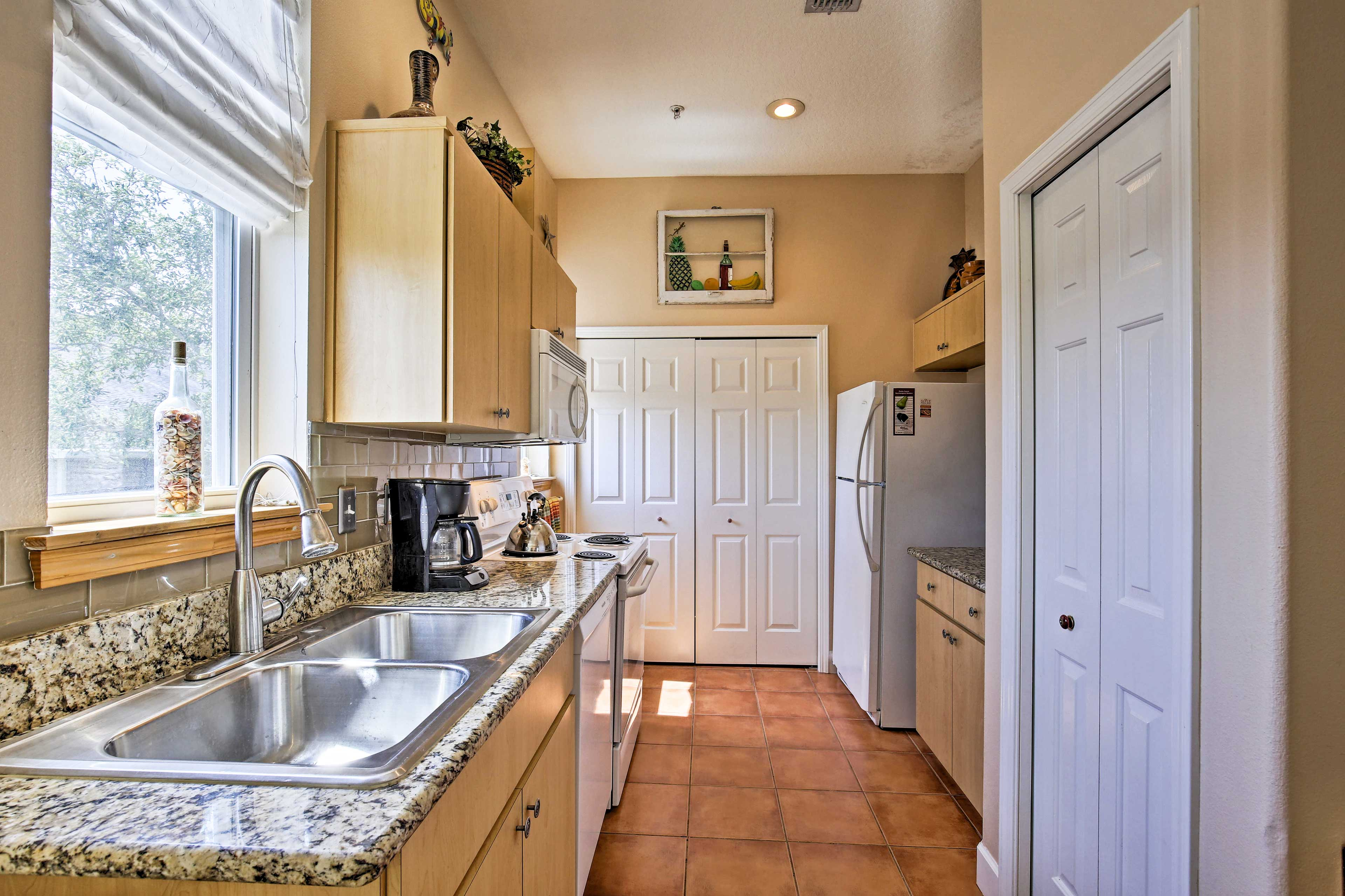 Whip up your signature dish in the fully equipped kitchen.