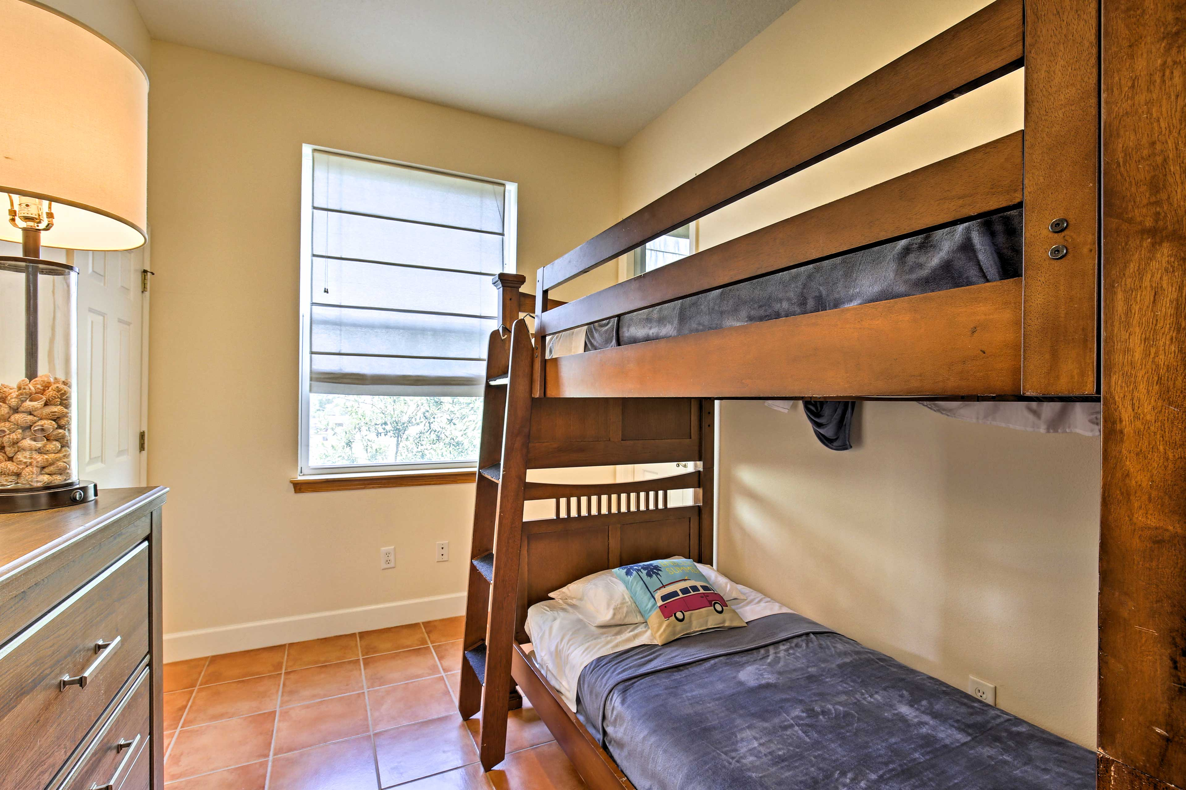 Located just off of the living room, this room is great for kids.