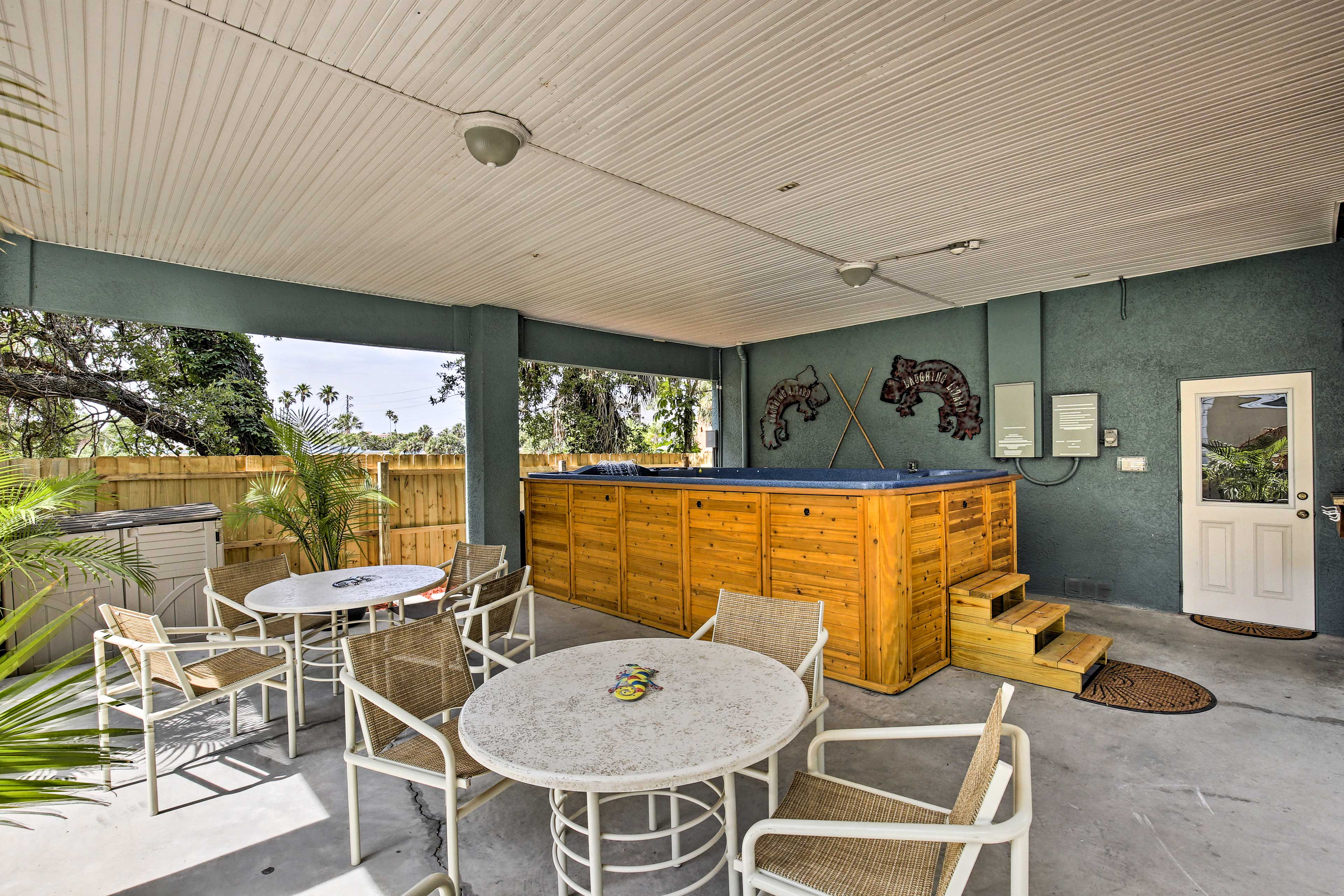 Enjoy a meal alfresco on the furnished patio.