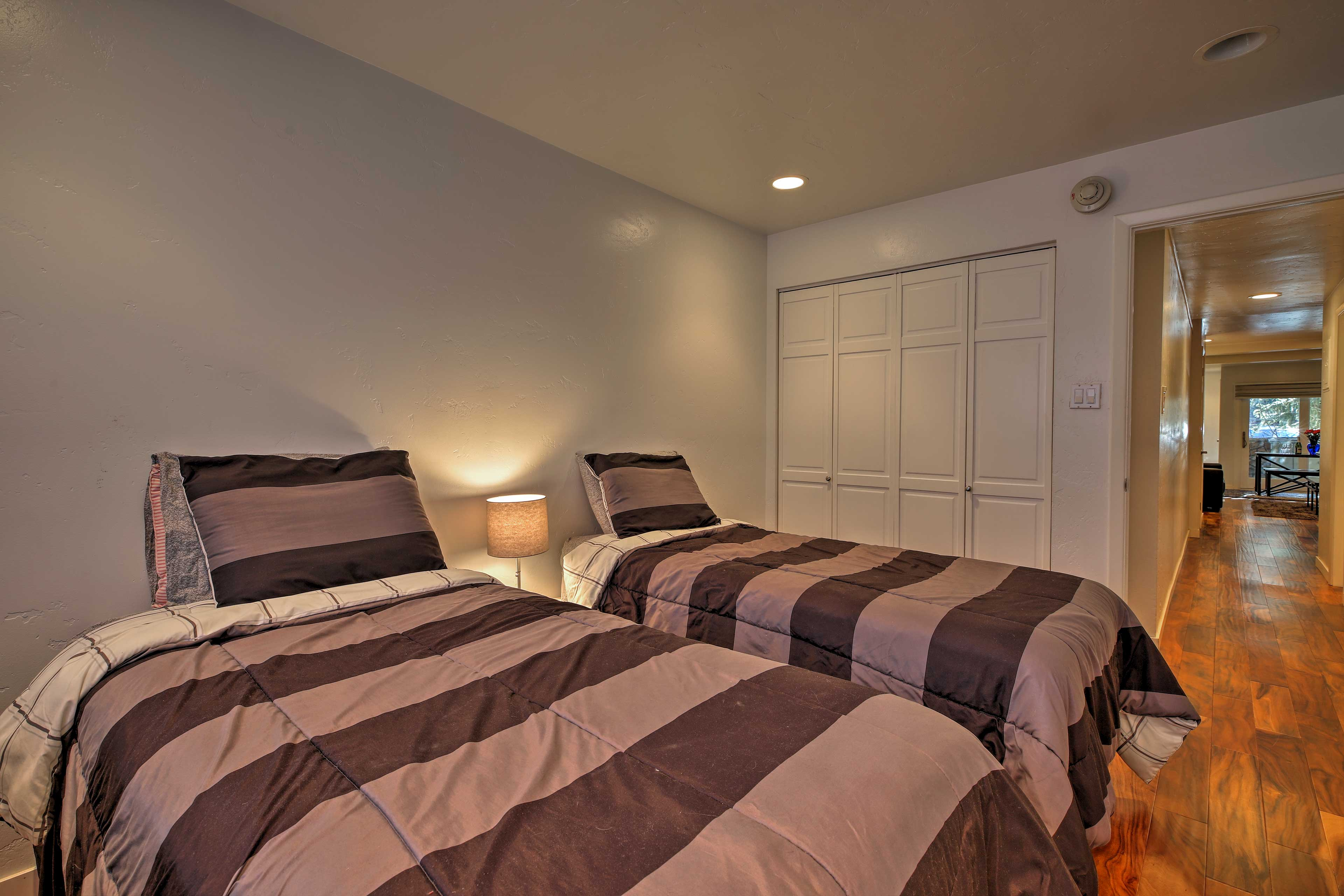 Send friends to rest up in the second bedroom.