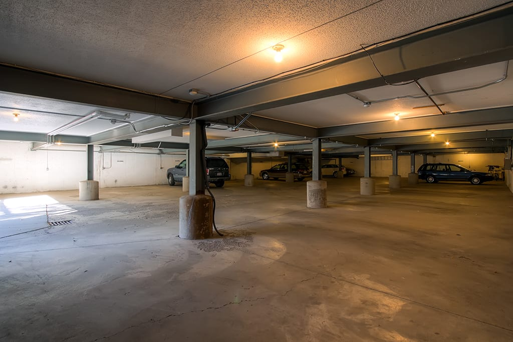 This condo includes the perk of one covered parking spot.