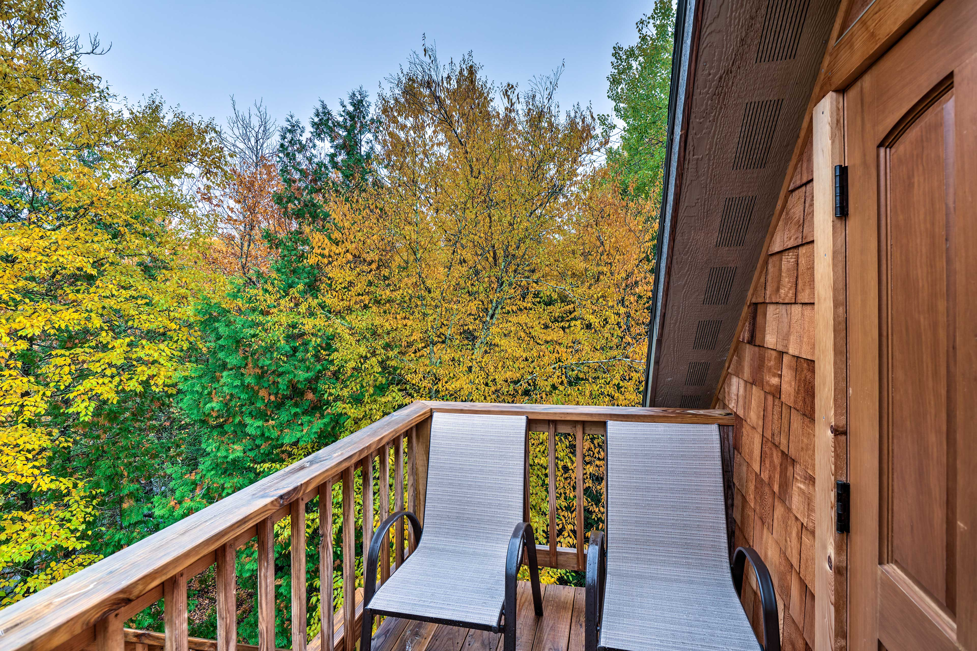 Sip on your morning cofffee on the furnished balcony.