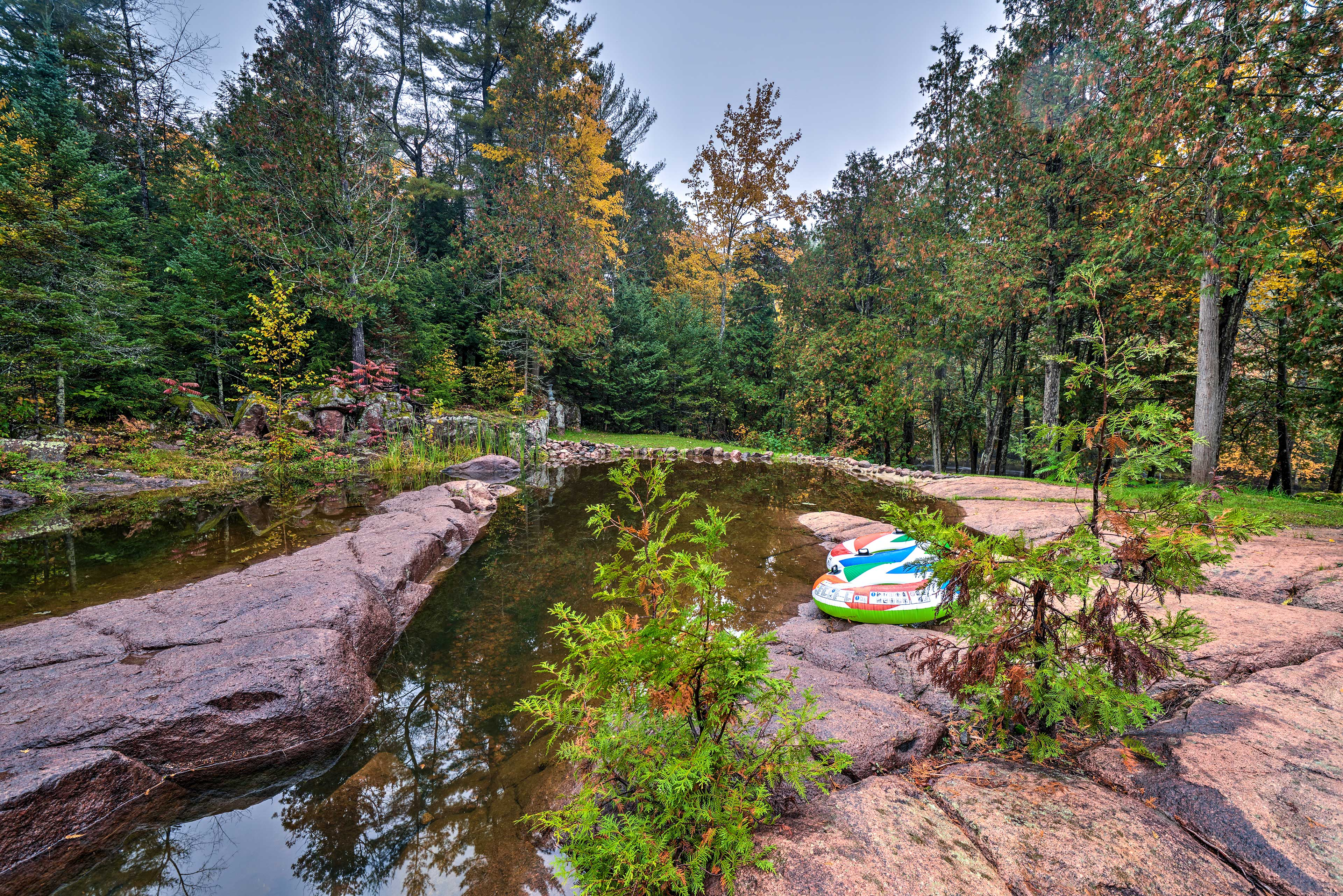 Kids will love playing in this babbling brook!