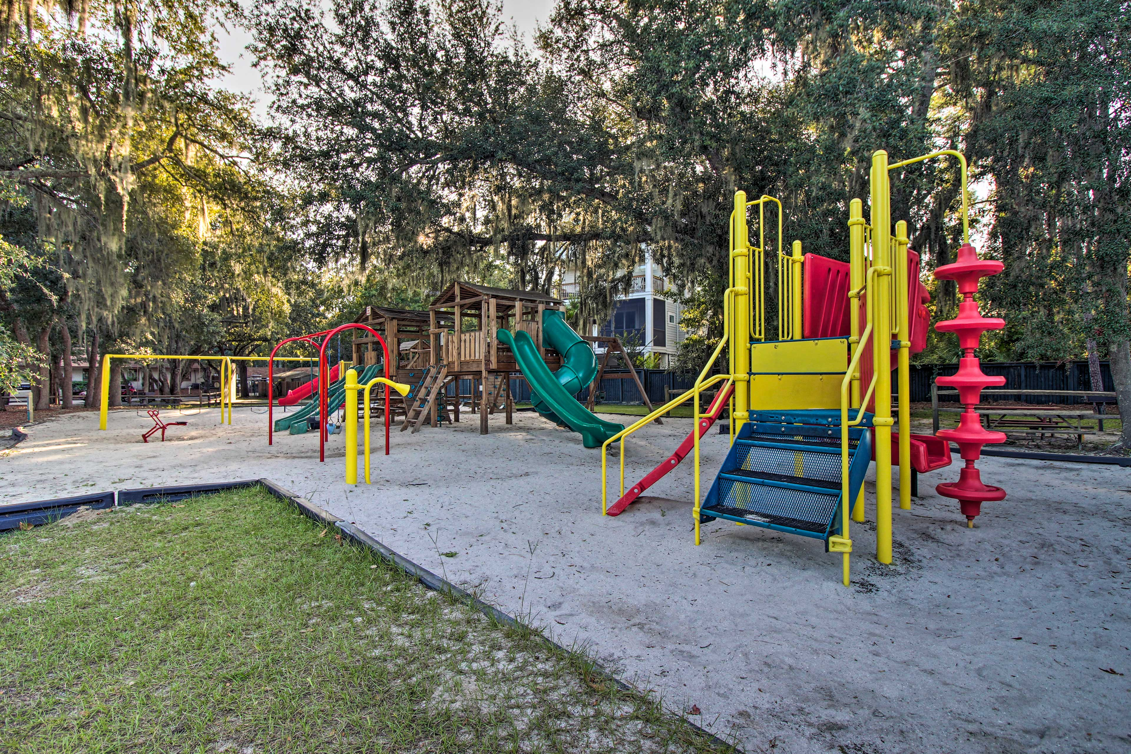 Spend the afternoon watching the kiddos romp around in the playground!