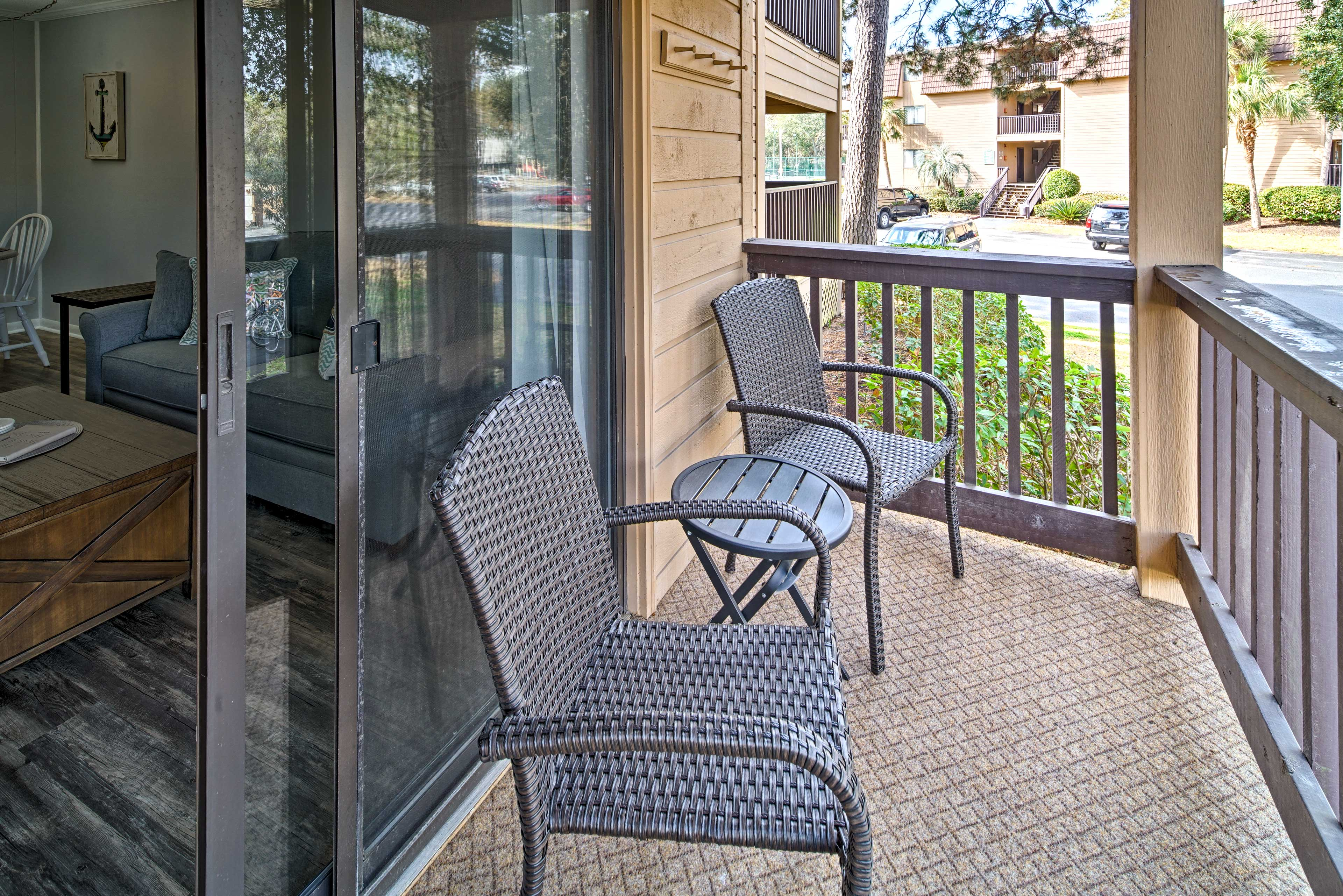 You'll feel like a true East-Coast local as you kick back on the private porch.