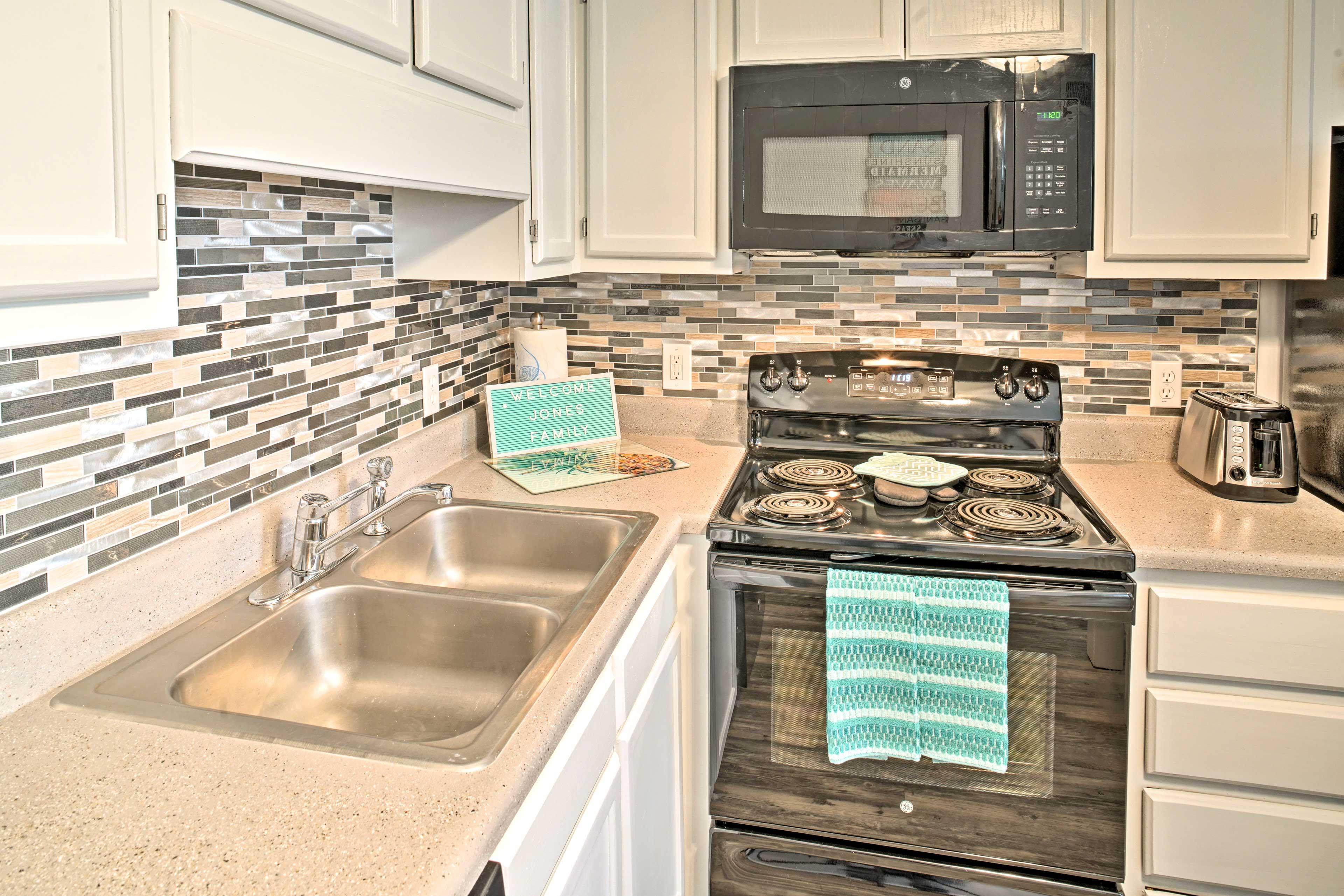 Modern appliances make cooking a breeze!