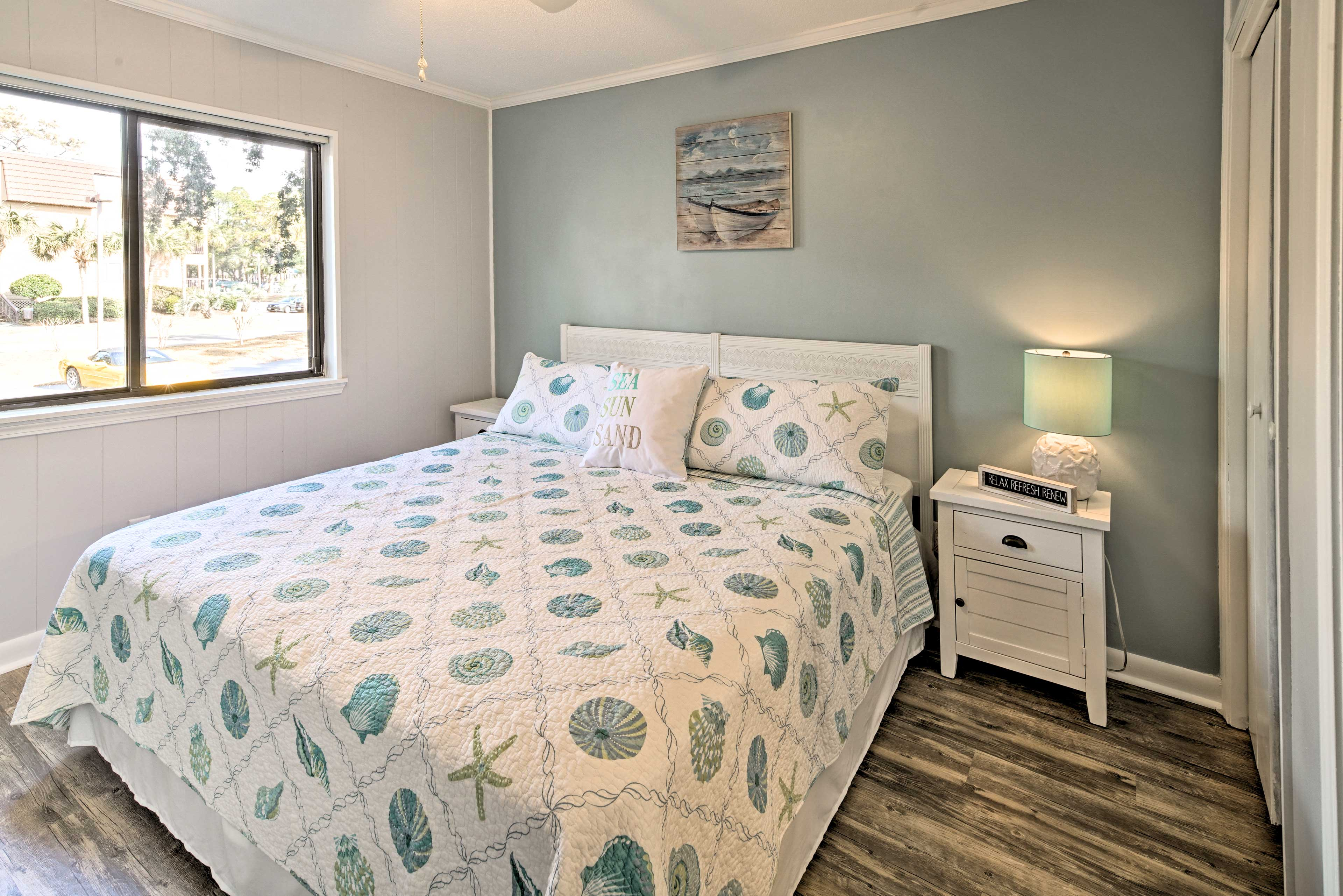 Rest easy on the plush king bed in the master bedroom.