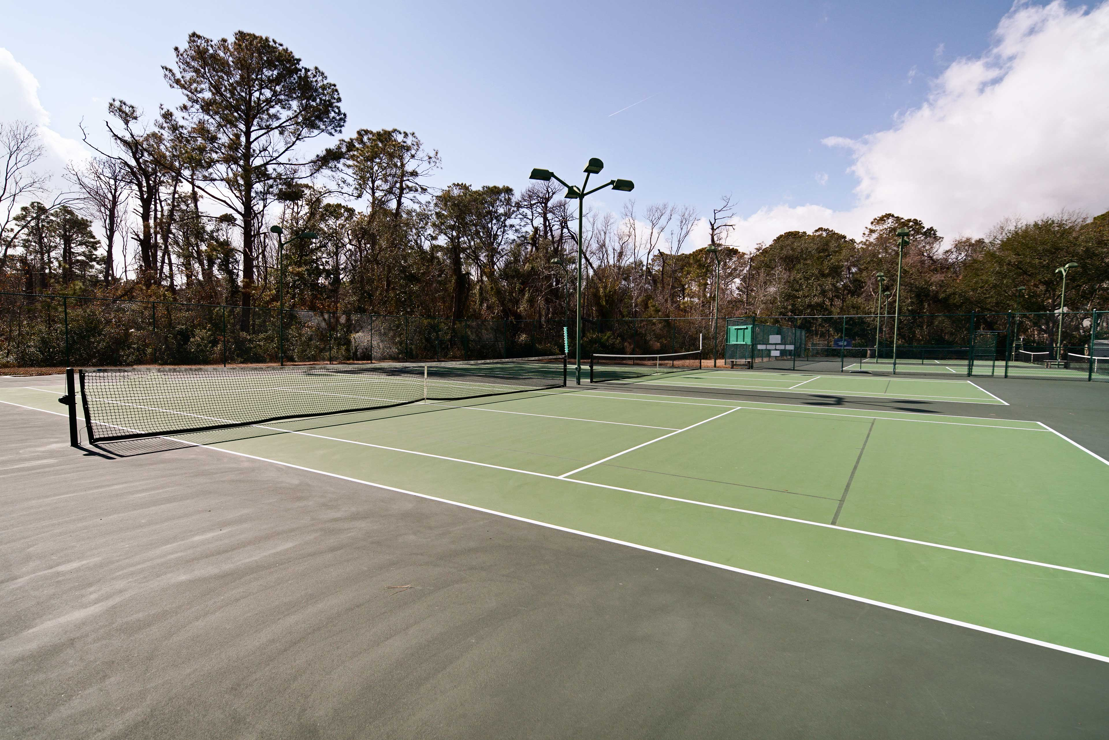 Play a doubles tournament on the Hilton Head  tennis courts!