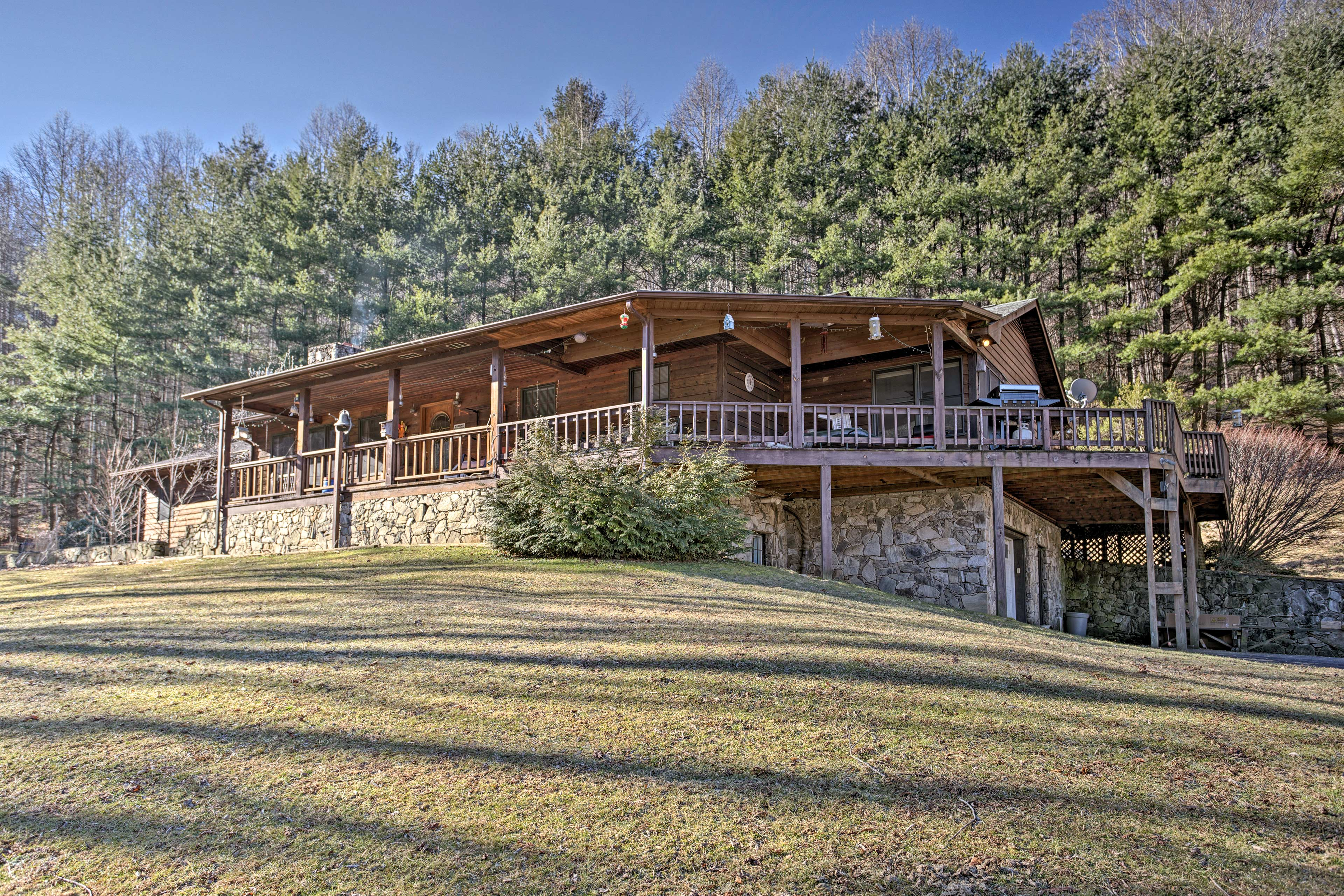 Escape to Waynesville and stay at this vacation rental cabin.