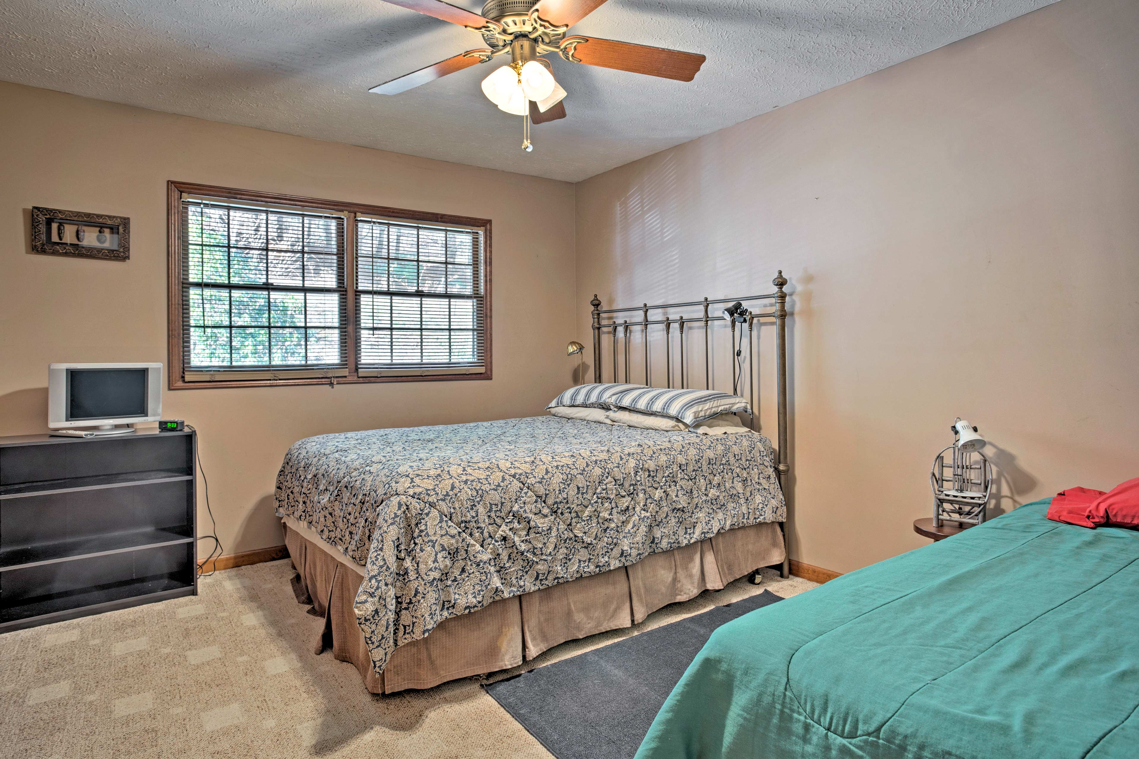 Choose from one of the 3 bedrooms of the main living area.