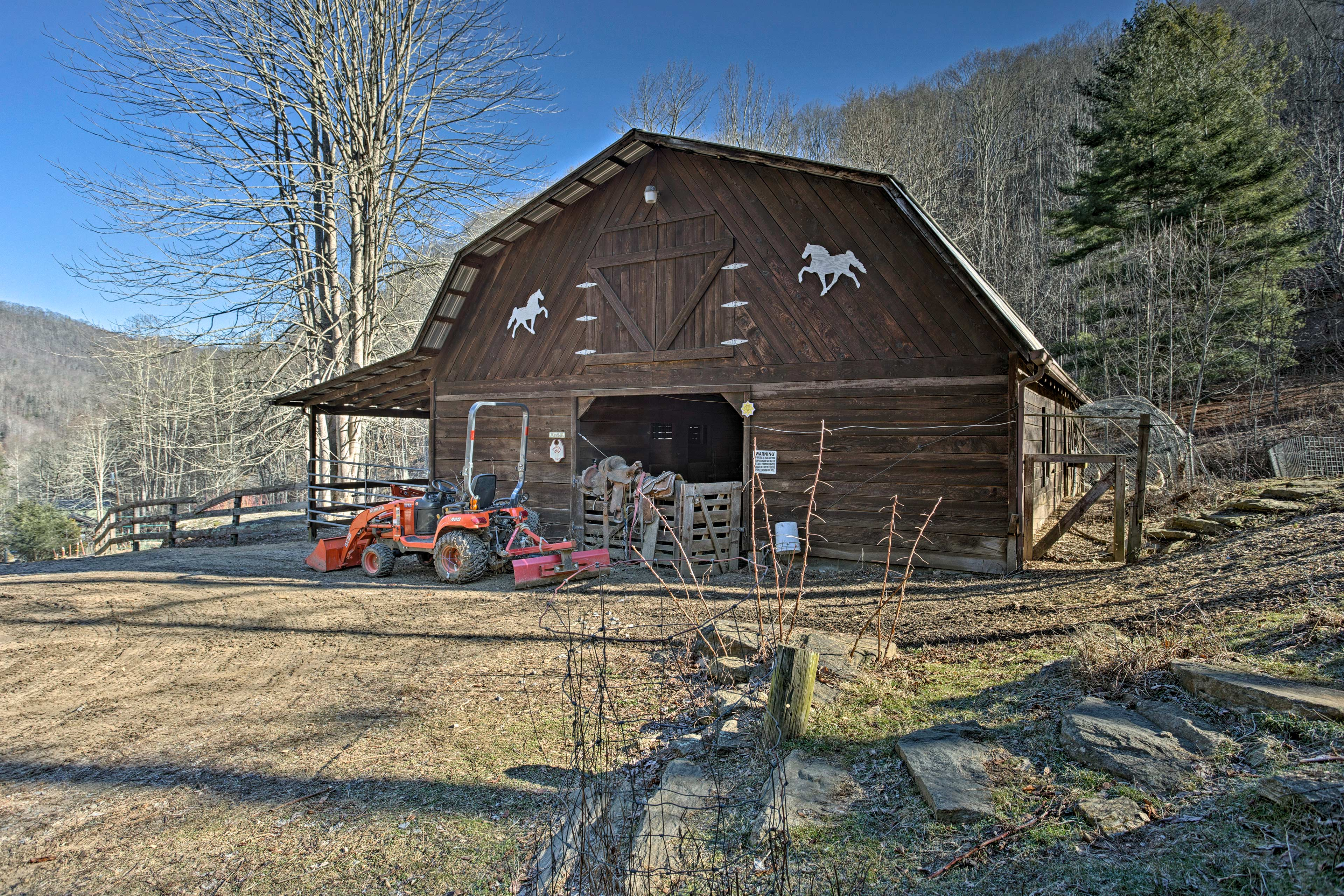 Get a true sense of farm life from this property.