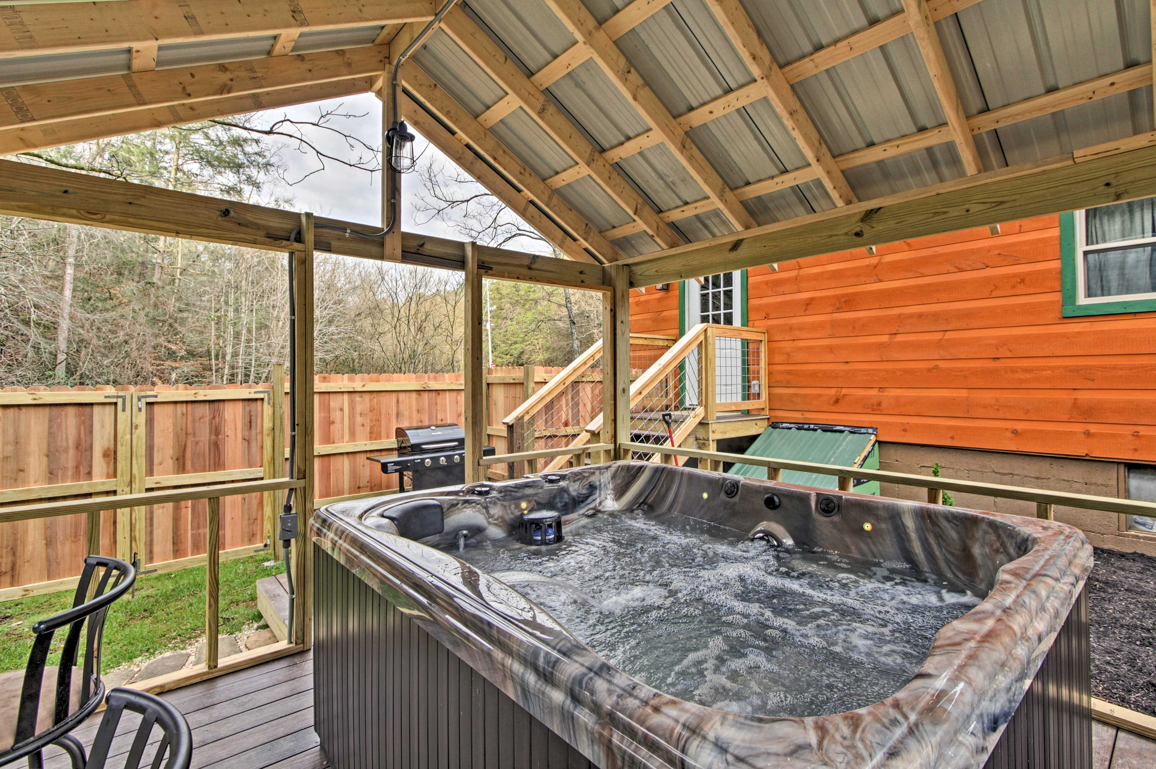 The hot tub is the perfect place to end each day!