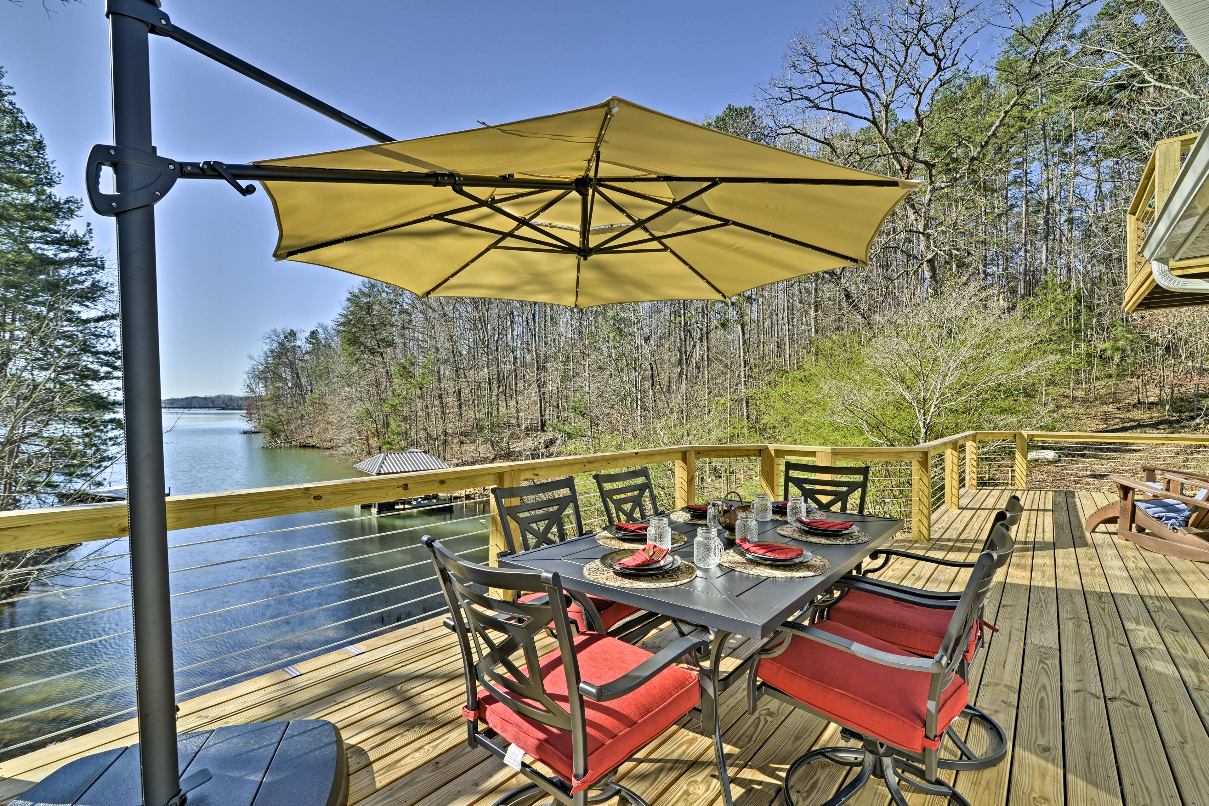 Relax on the deck during your stay at 'Savasana!'