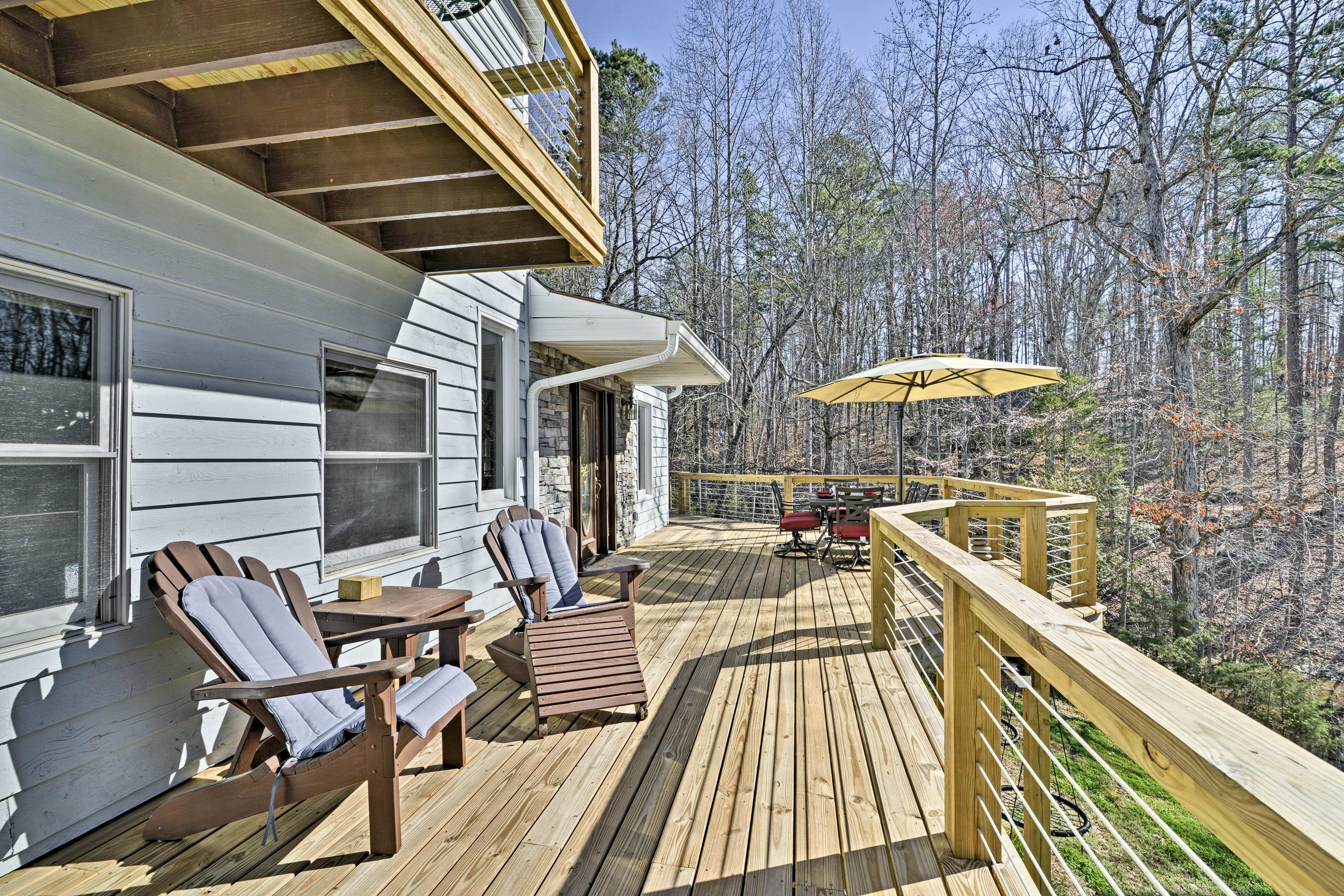Catch some rays on the 20-foot deck.