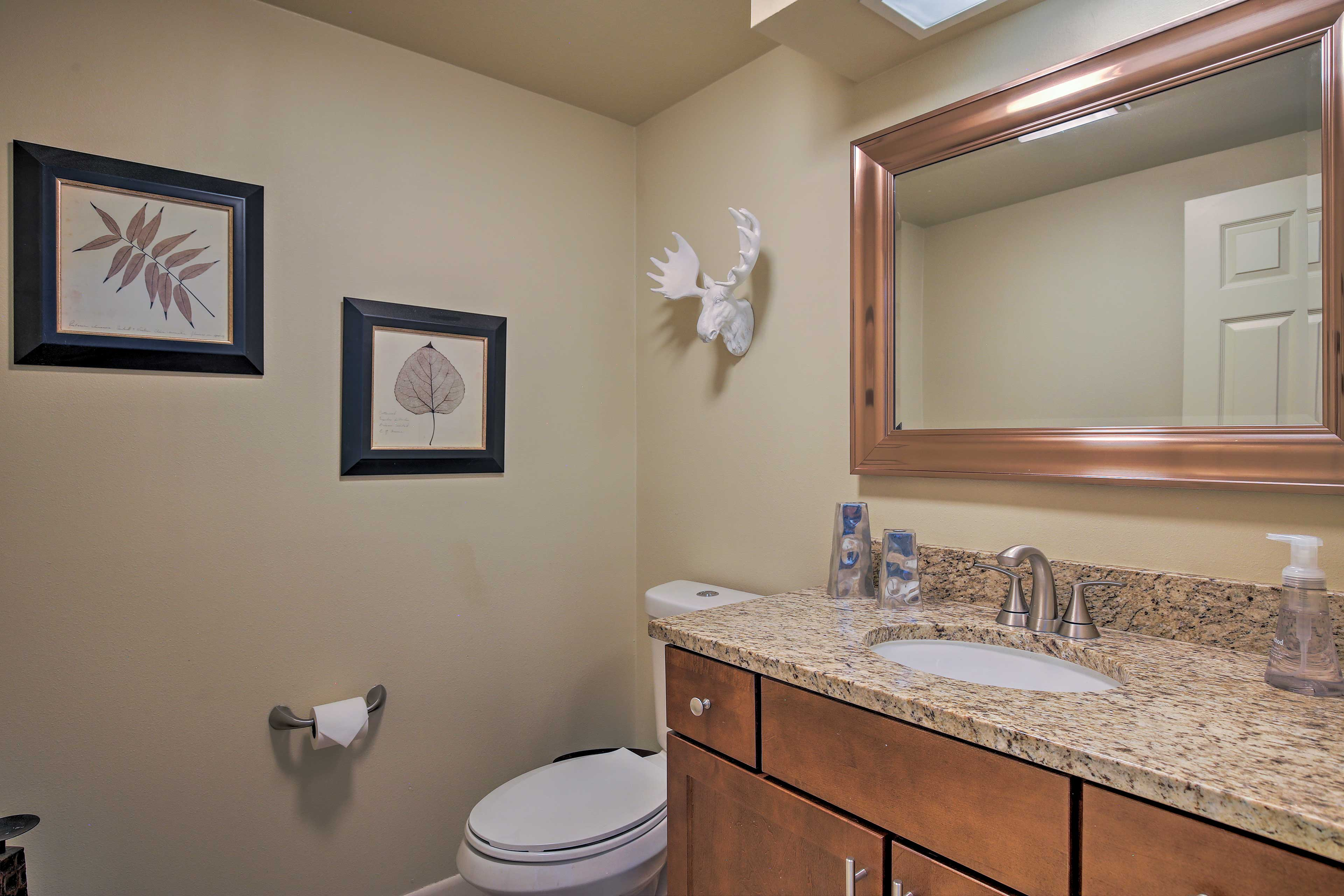 This half bath can be found on the main level.