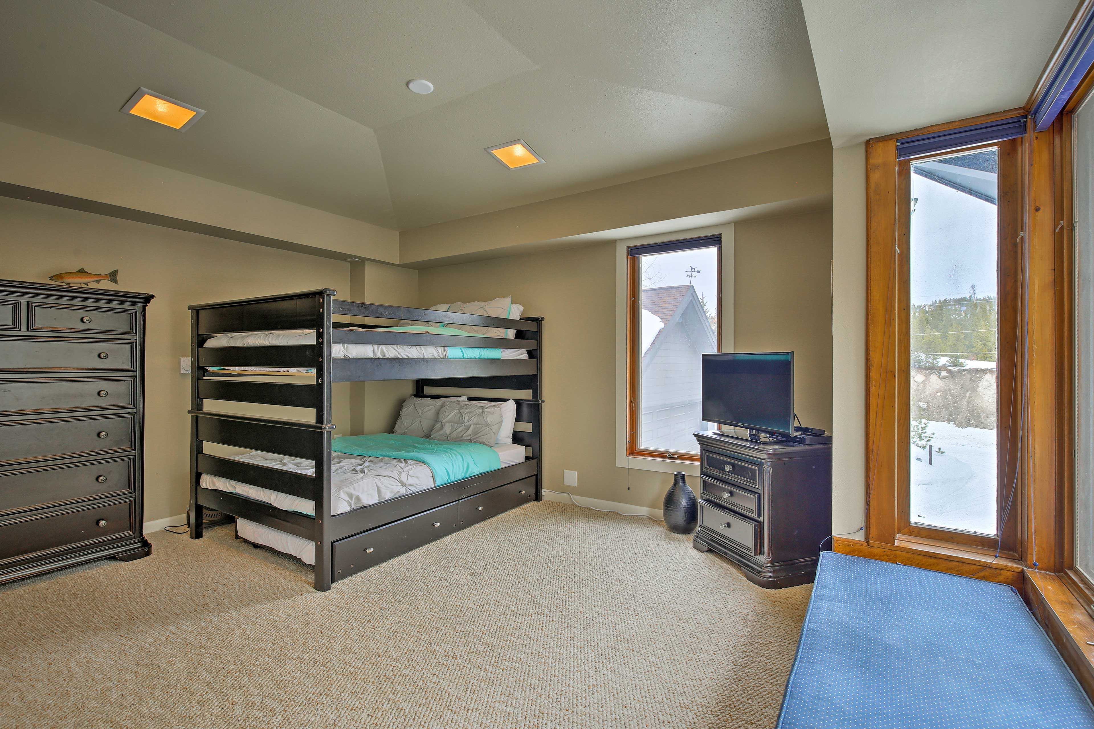 All 4 bedrooms provide flat-screen TVs so everyone can watch a show in bed!