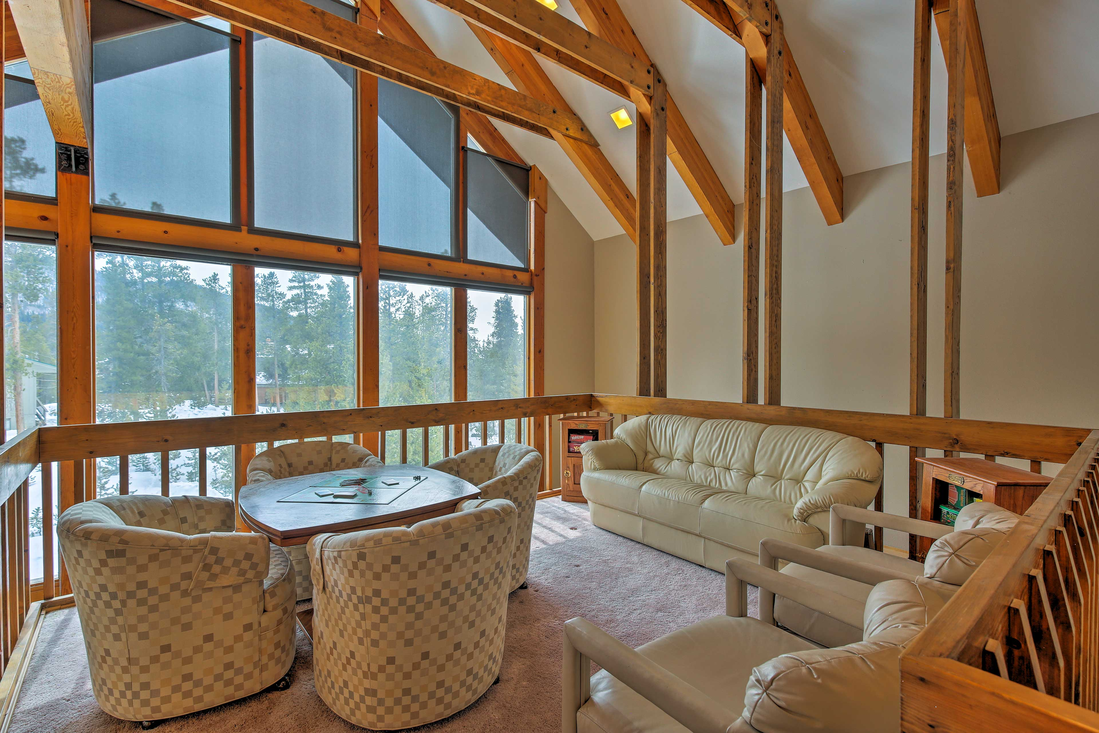 The views from the upstairs loft are breathtaking!