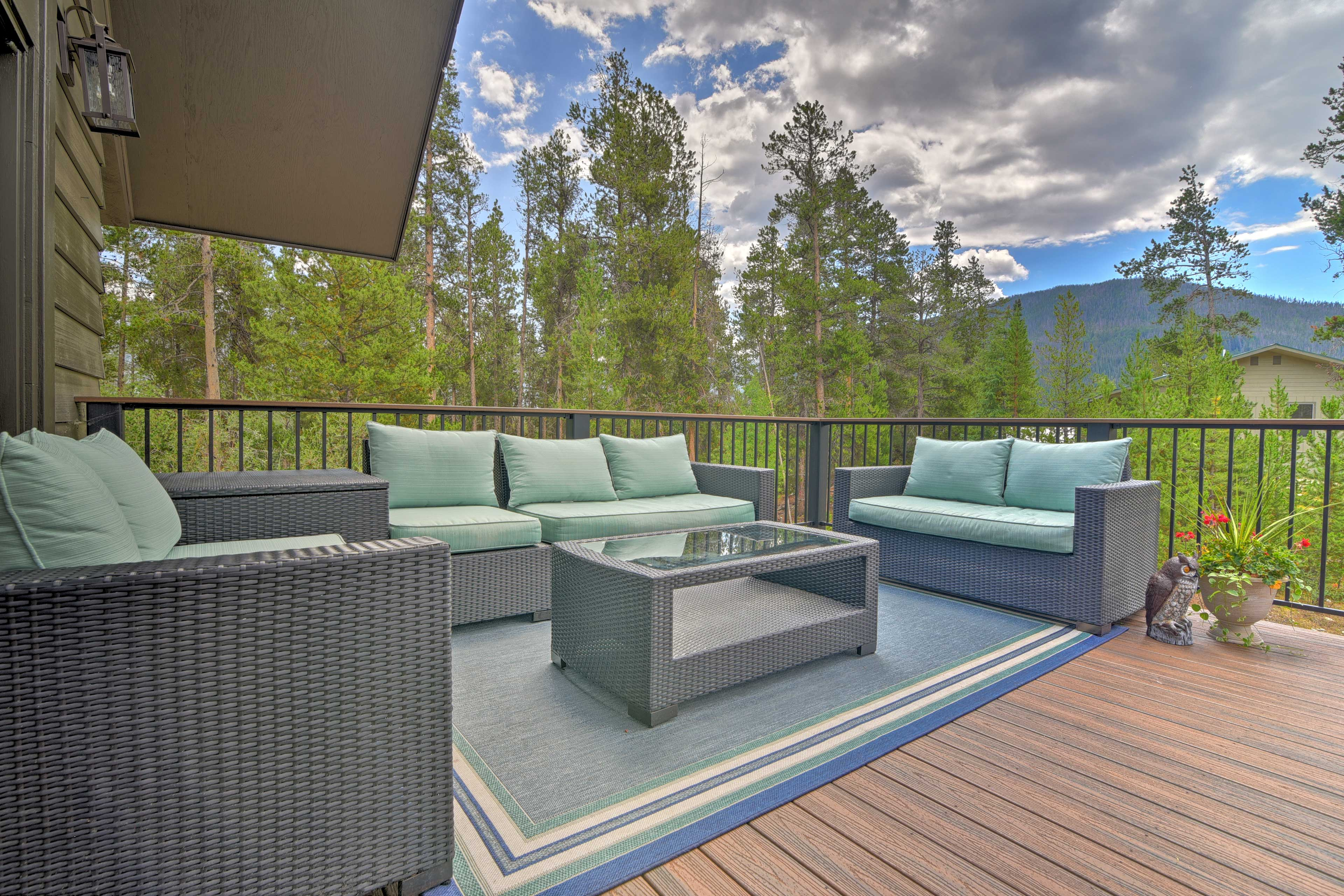 The back deck will easily become your favorite spot on the property.