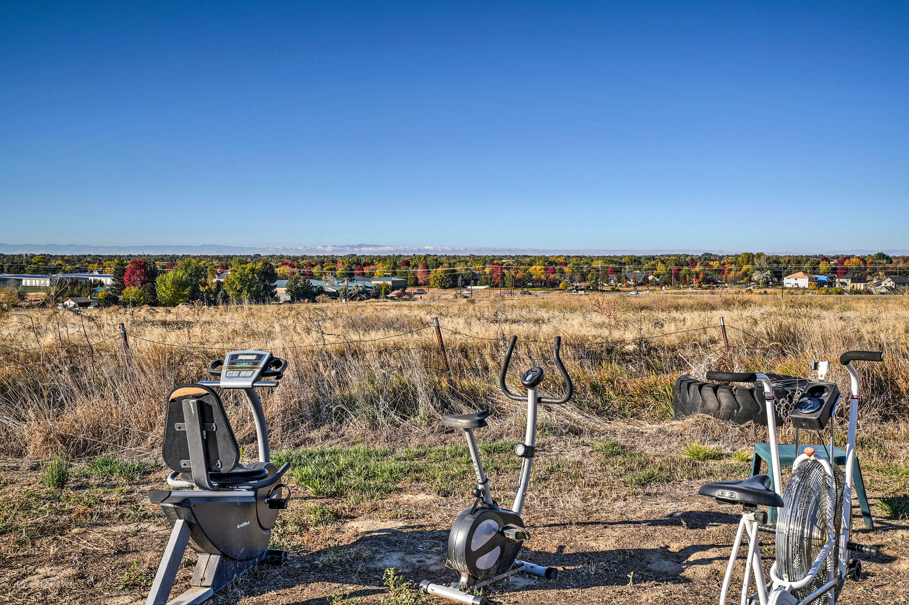 Get a workout in while observing the fall colors.