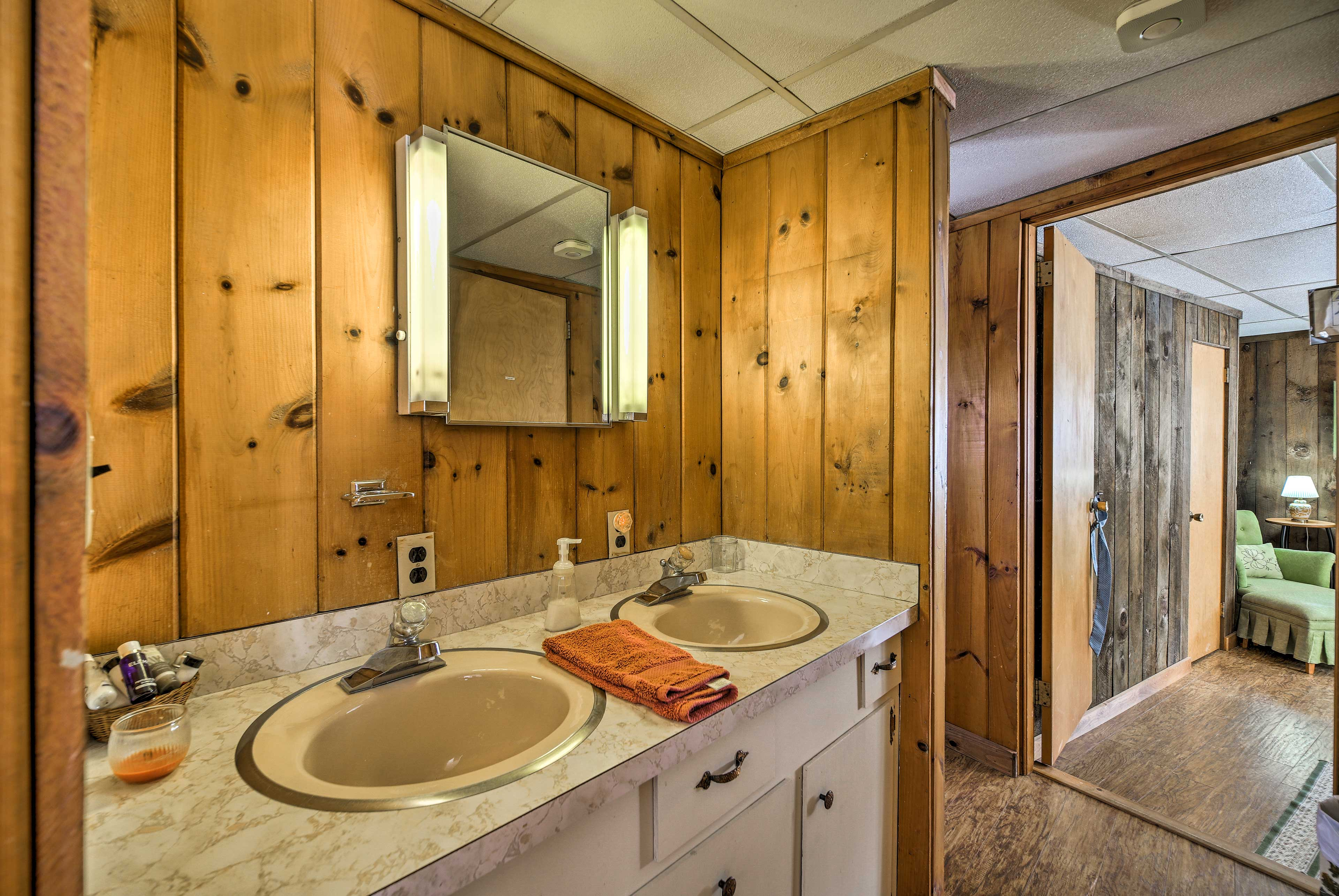 You won't have to fight over the sink thanks to this large vanity.