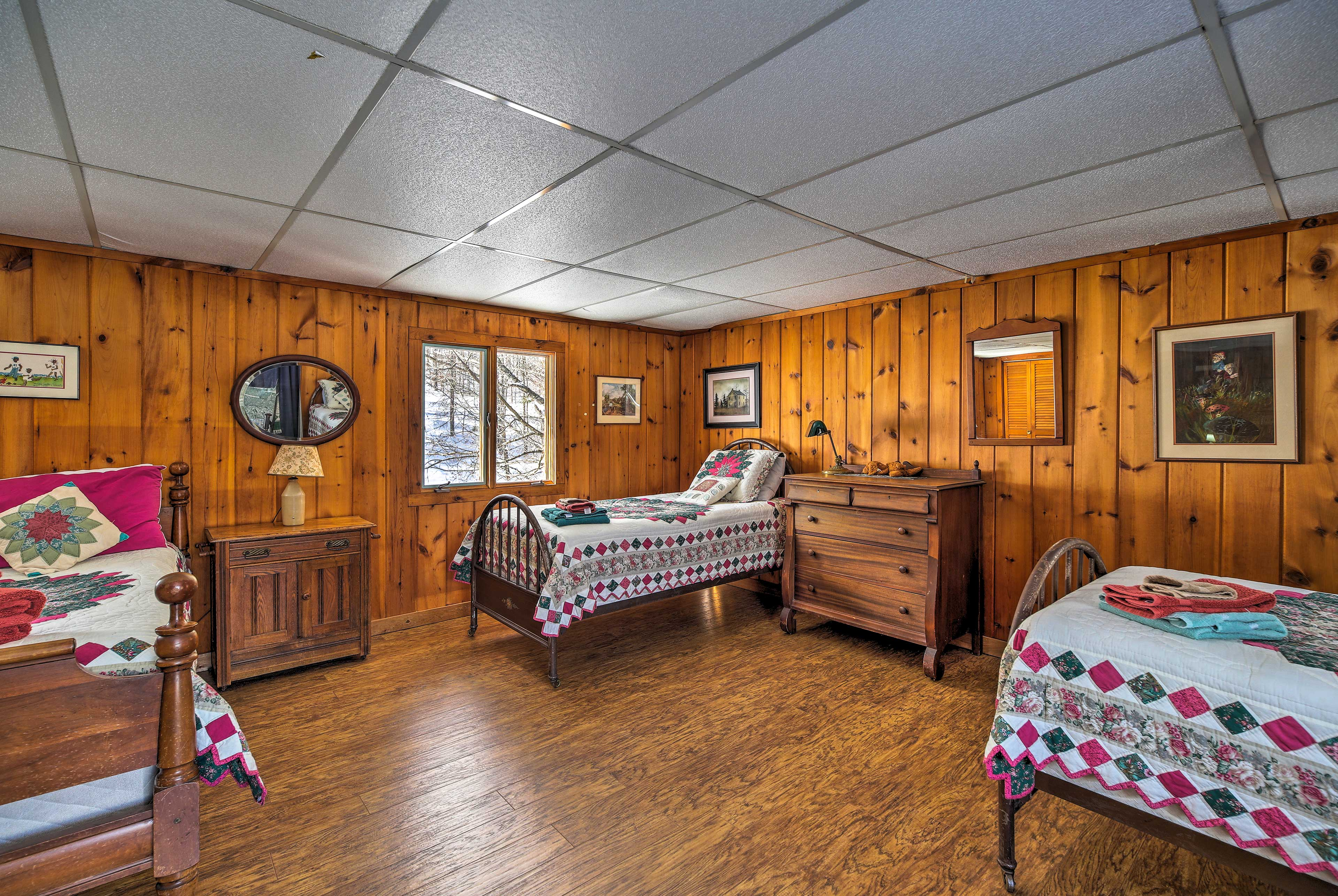 This dorm style bedroom allows the kids to have their own space.