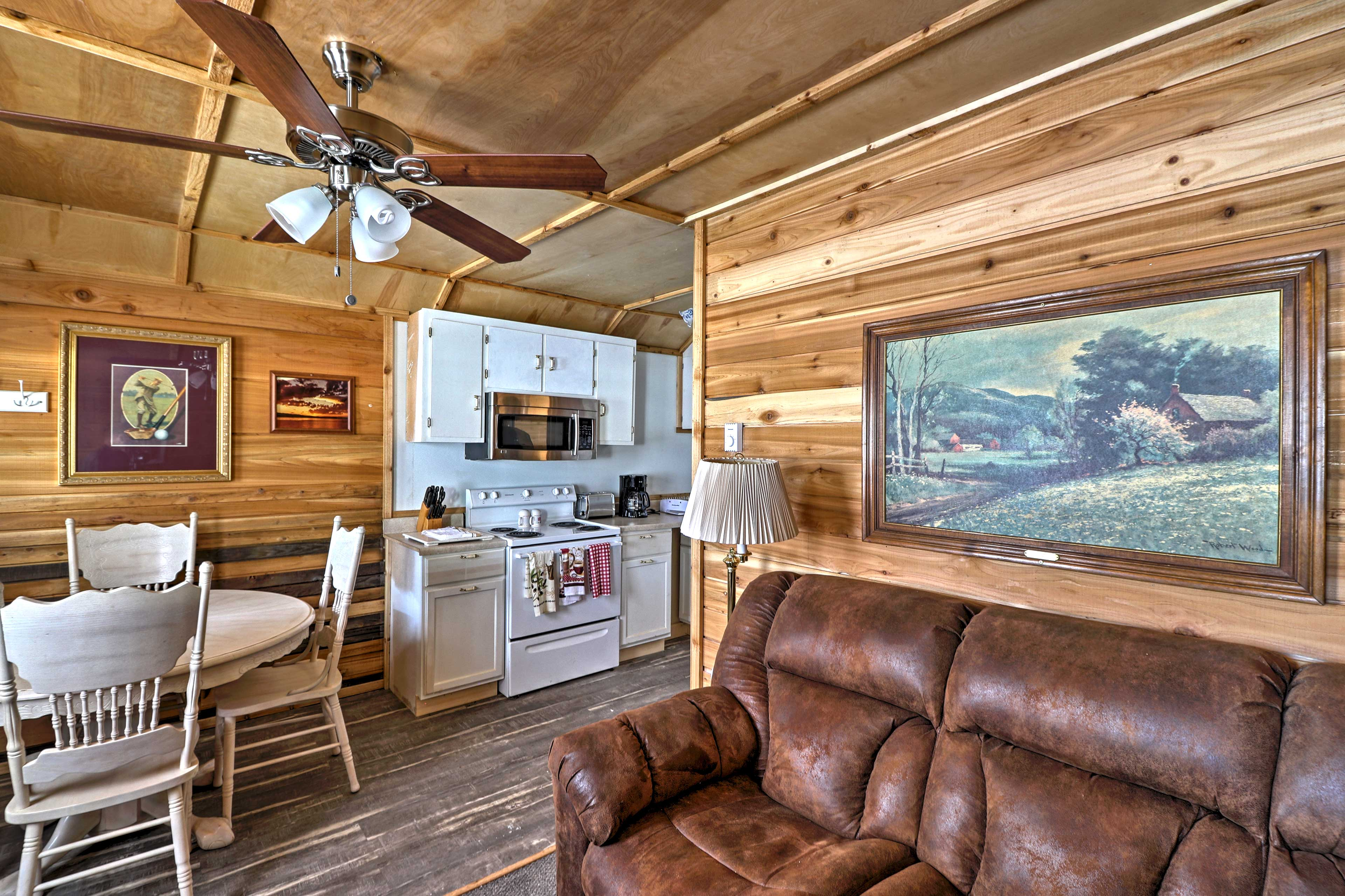 Easily stay connected with your companions in this open-concept layout.