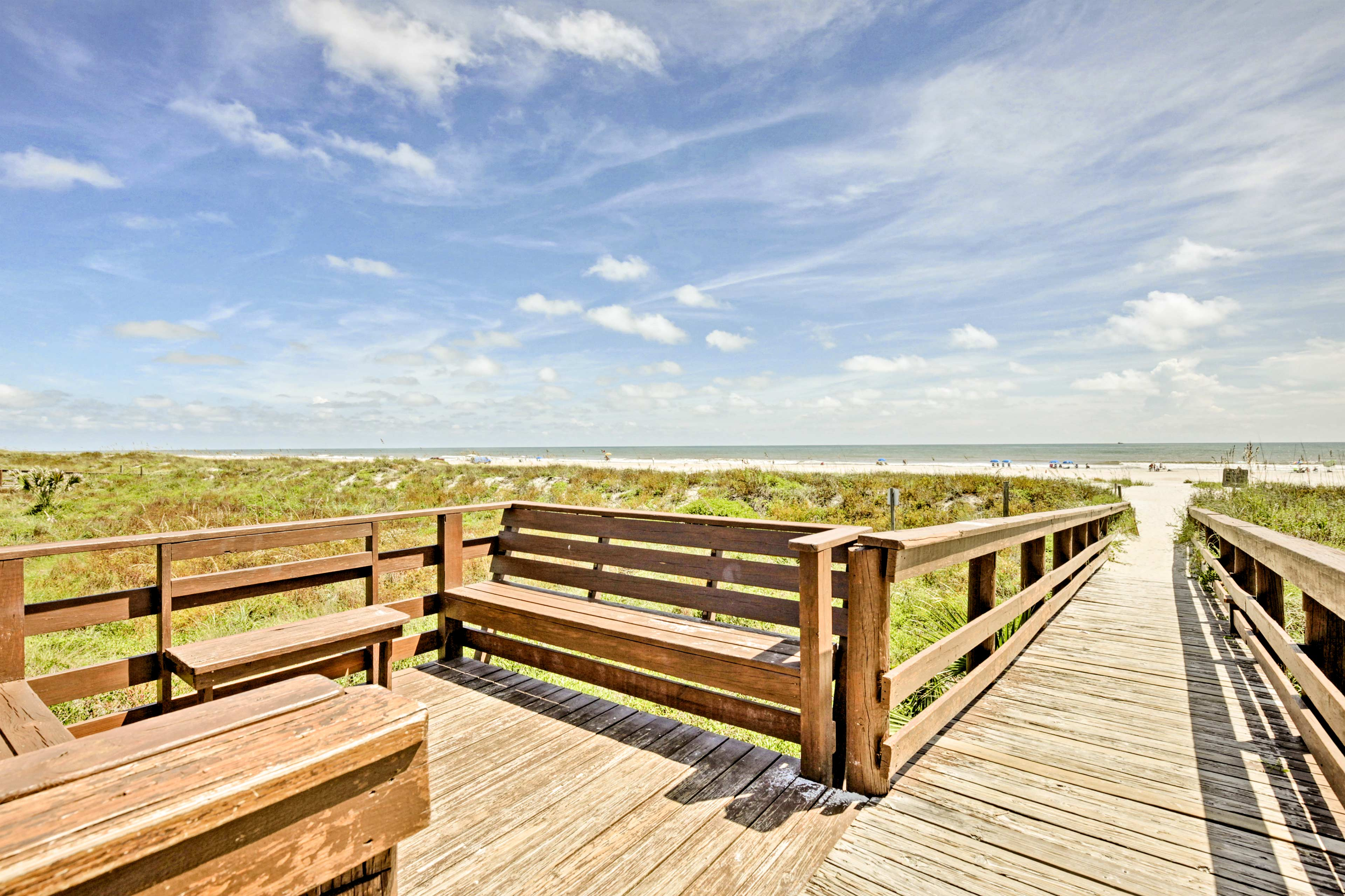Located near the beach, this unit comfortably sleeps up to 6 lucky guests.