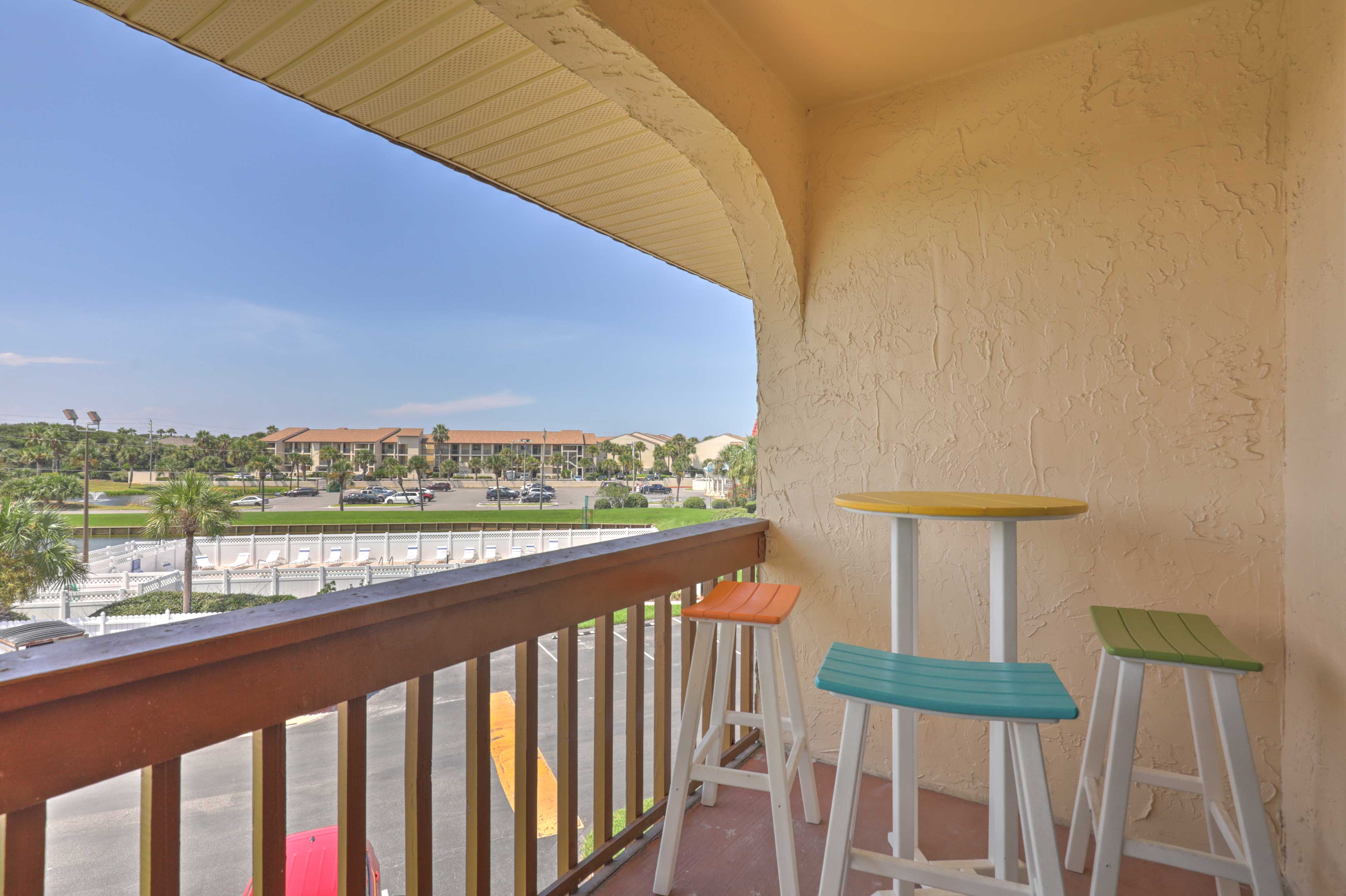 Retreat to this 2-bedroom, 2-bathroom vacation rental condo in St. Augustine.