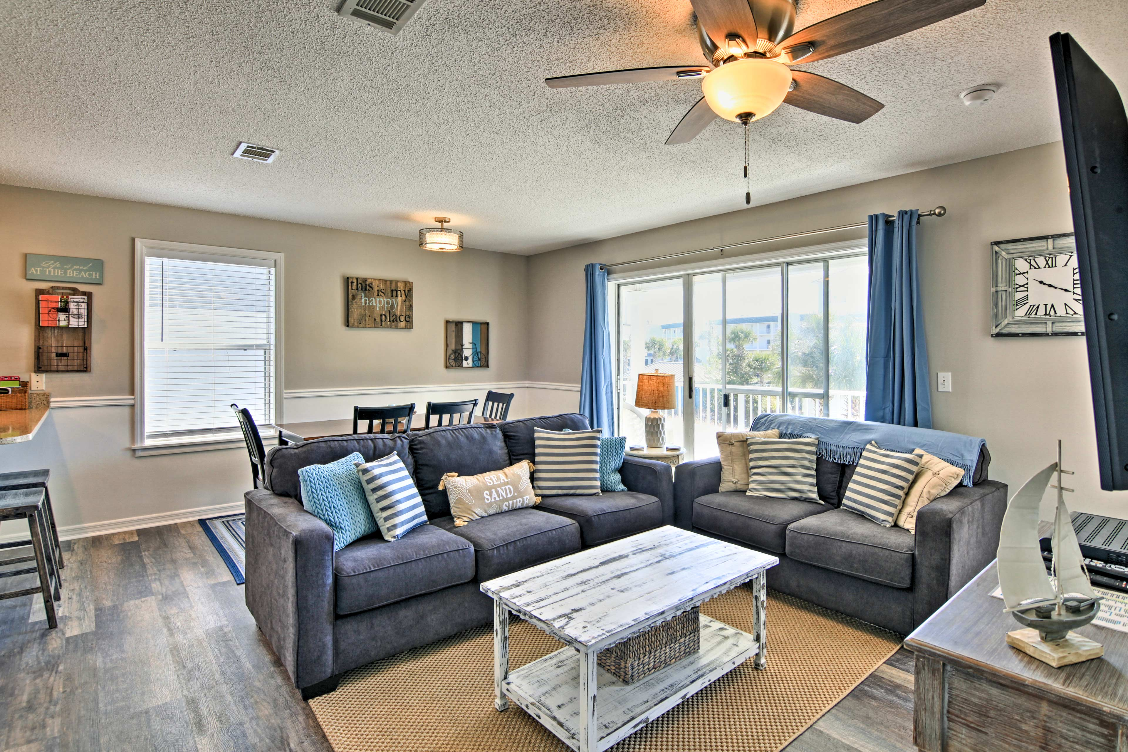 Make yourself at home in the 1,028 square feet of living space.