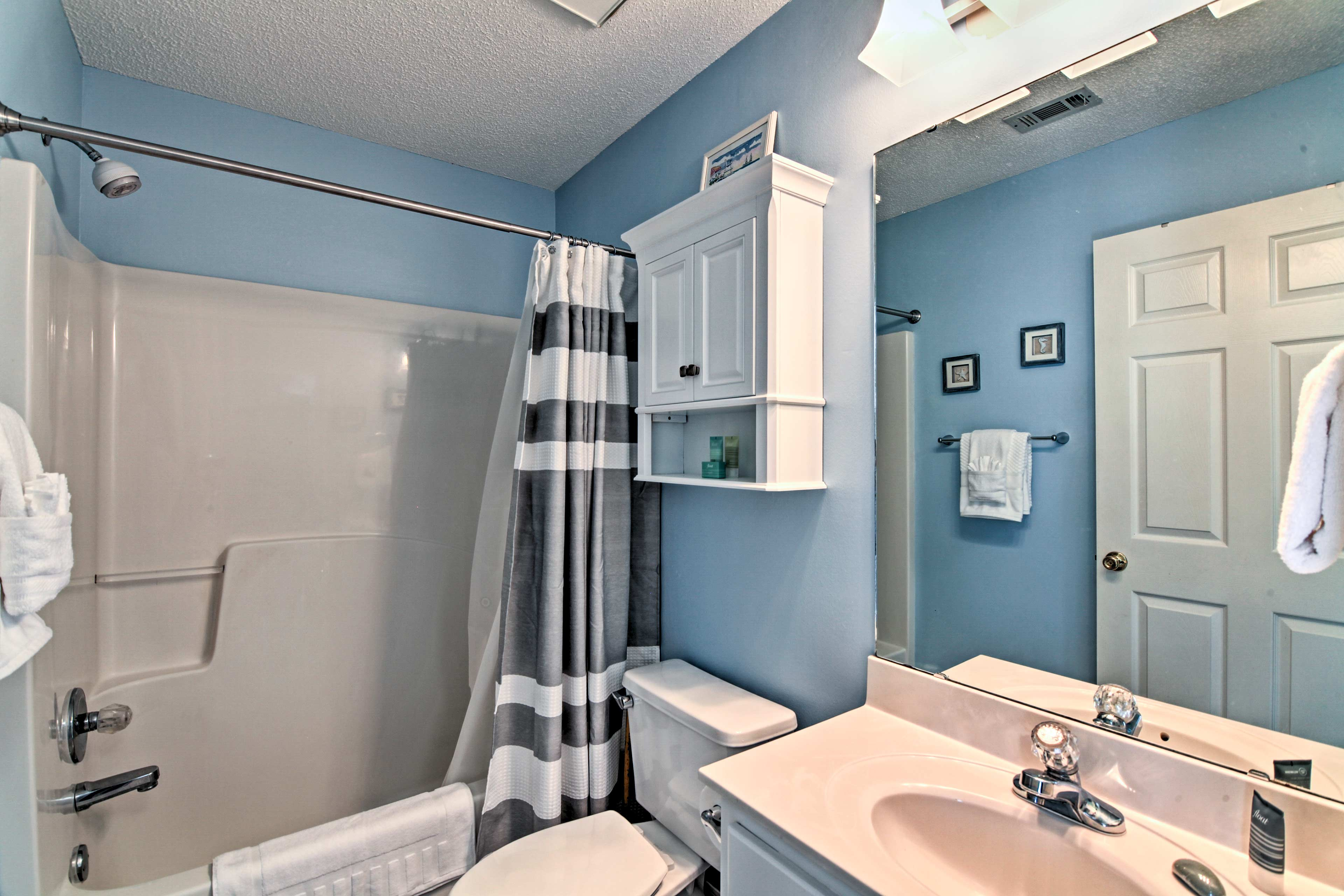 Take a shower in one of the 2 bathrooms to unwind from an adventure-filled day.