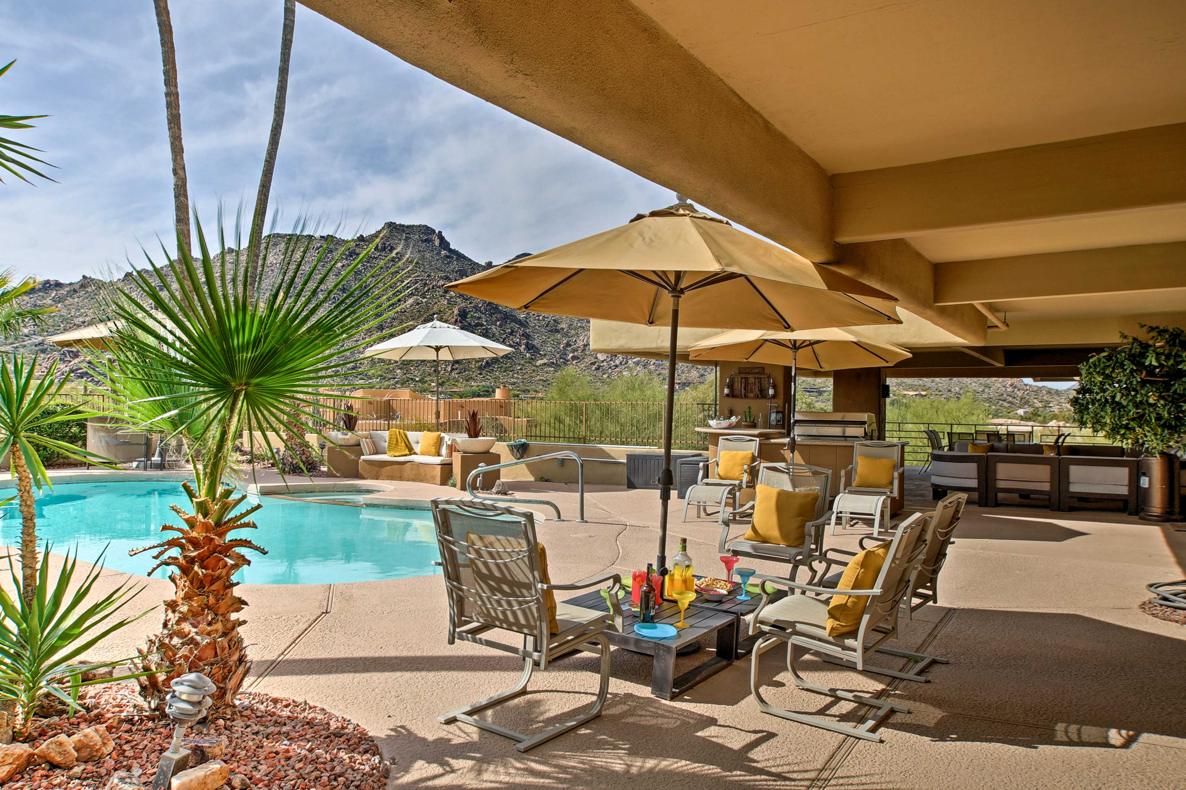 Experience the southwest at this 1-bed, 1-bath vacation rental casita.