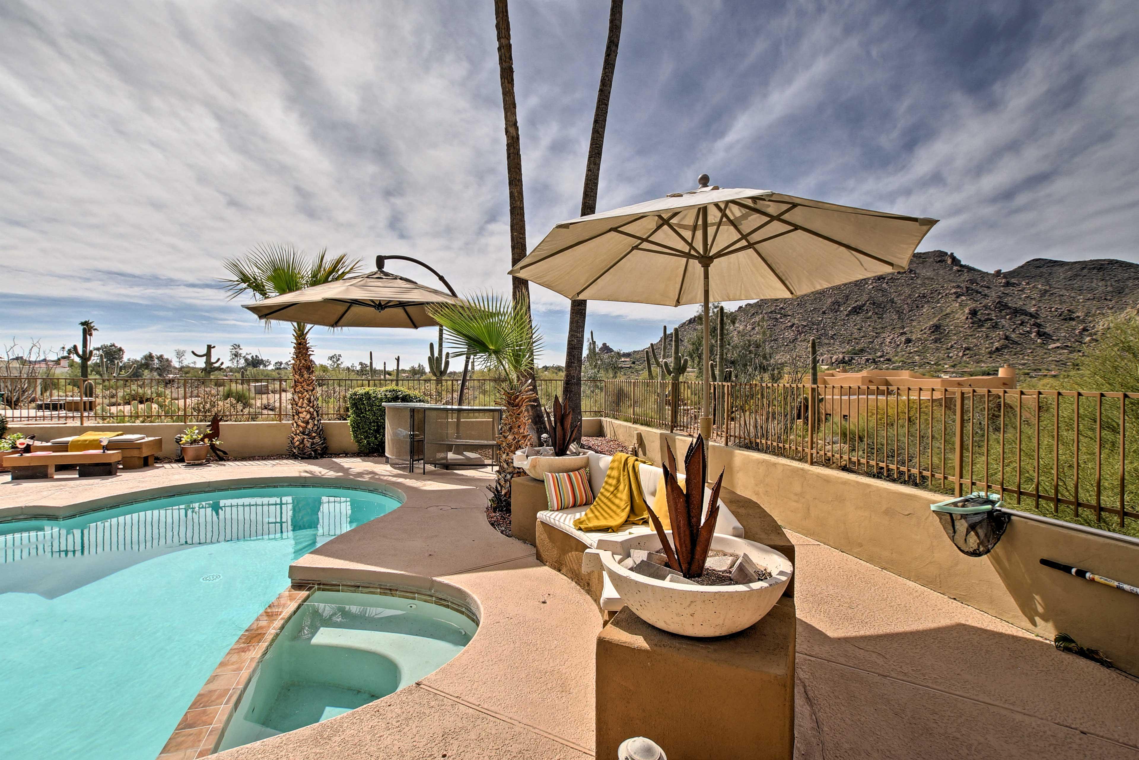 You'll love the yard's mountain views.