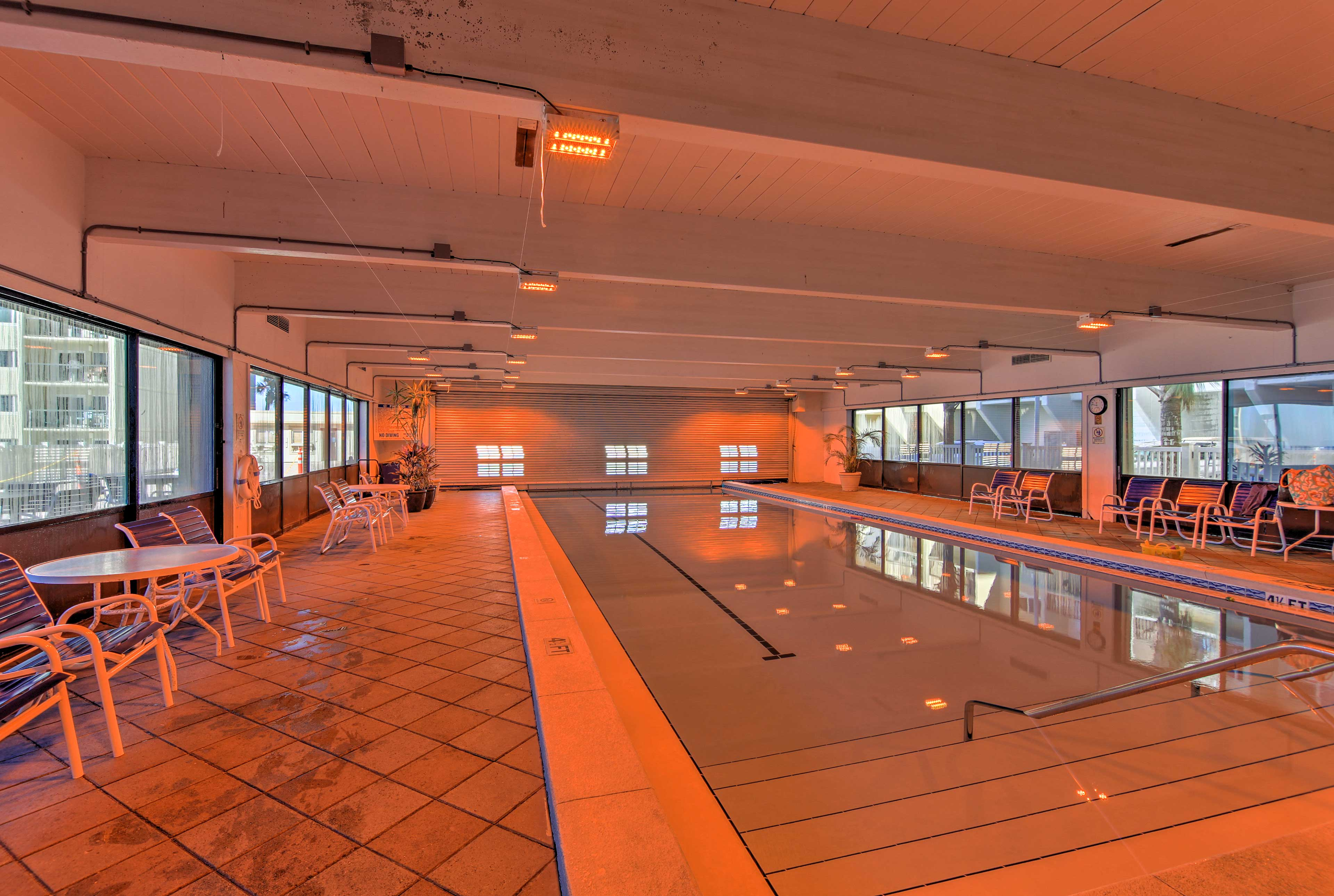 Swim in the indoor pool on those cloudy days.