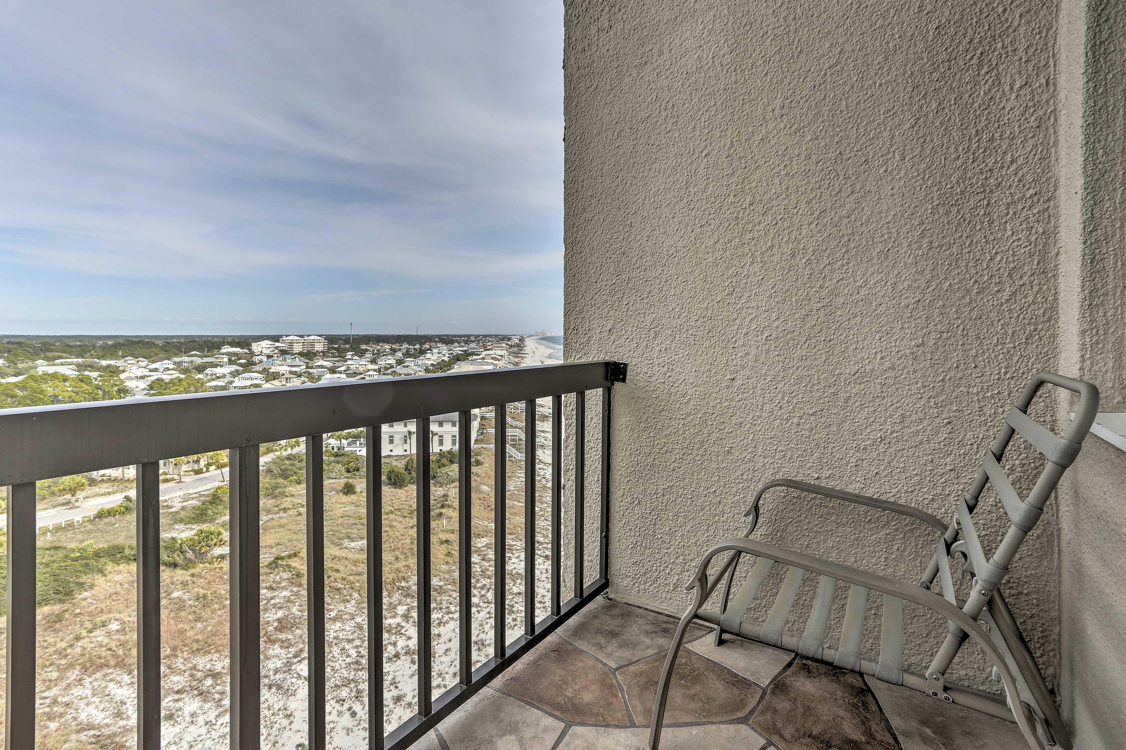 Enjoy having access to the balcony!