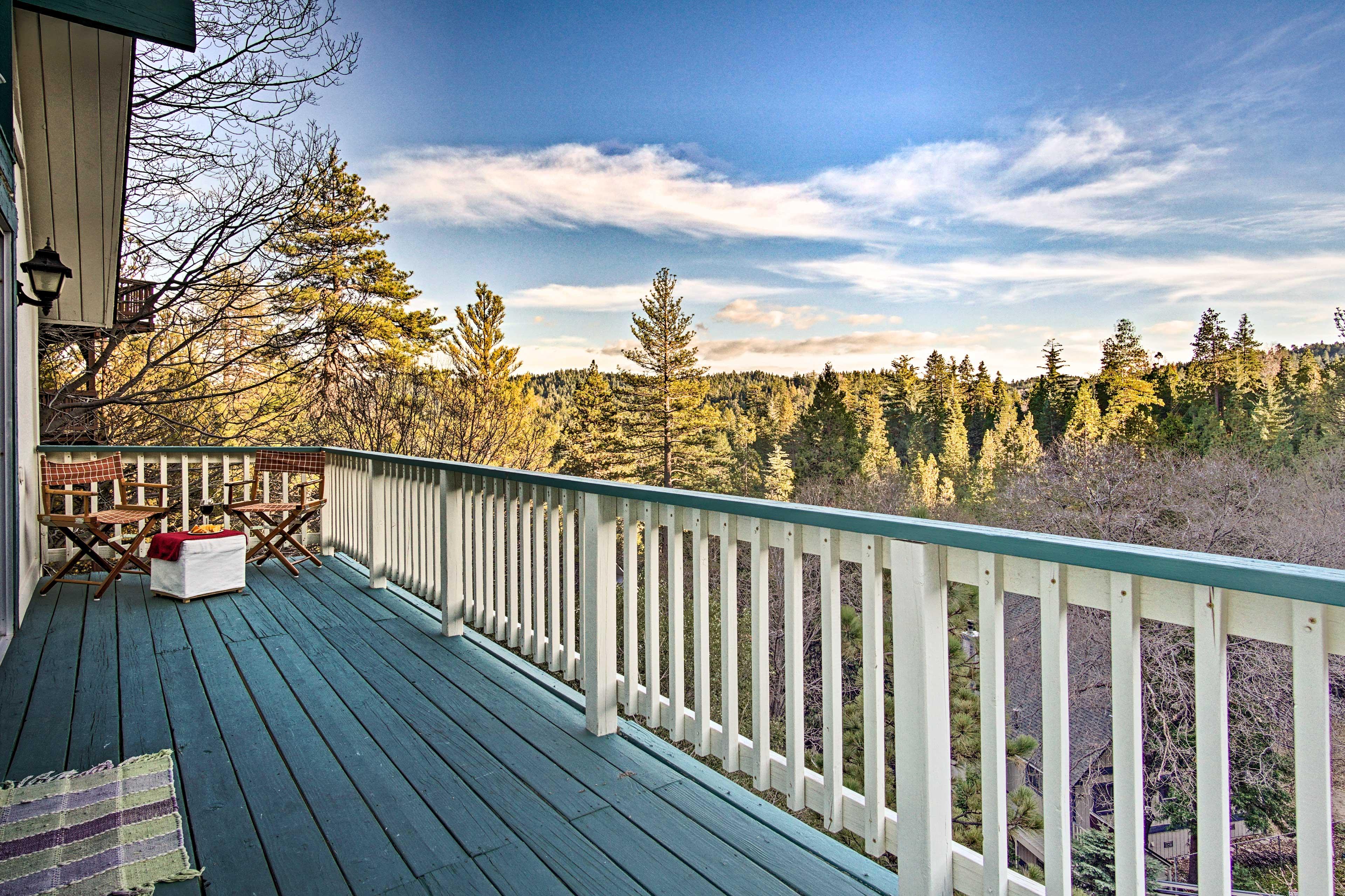 Enjoy the scenic treeline views from one of 2 balconies.